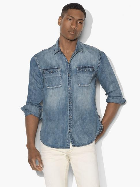 WESTERN SHIRT WITH SNAP CHEST POCKET