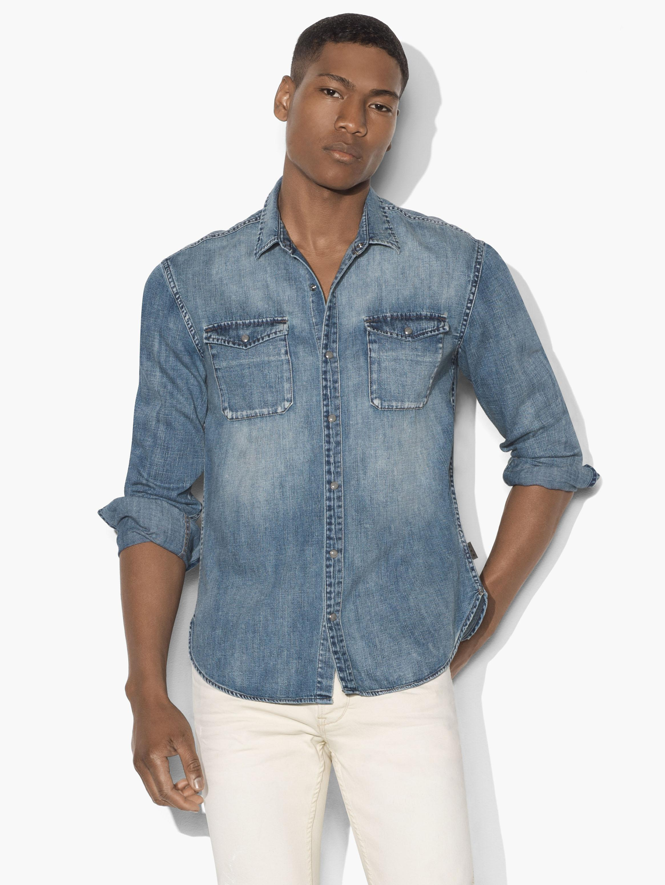 Washed-Denim Shirt
