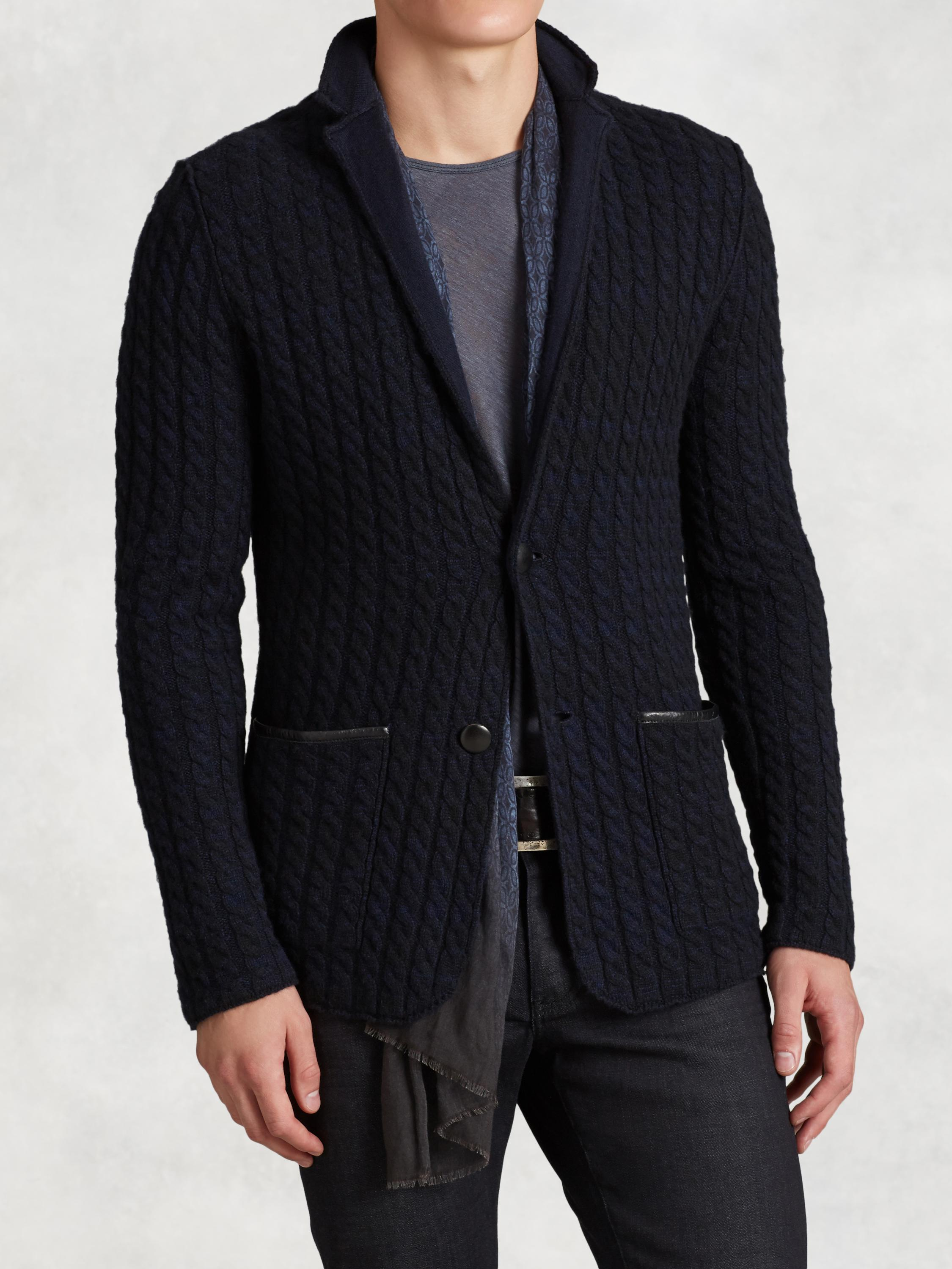 Plated Cashmere Sweater Jacket