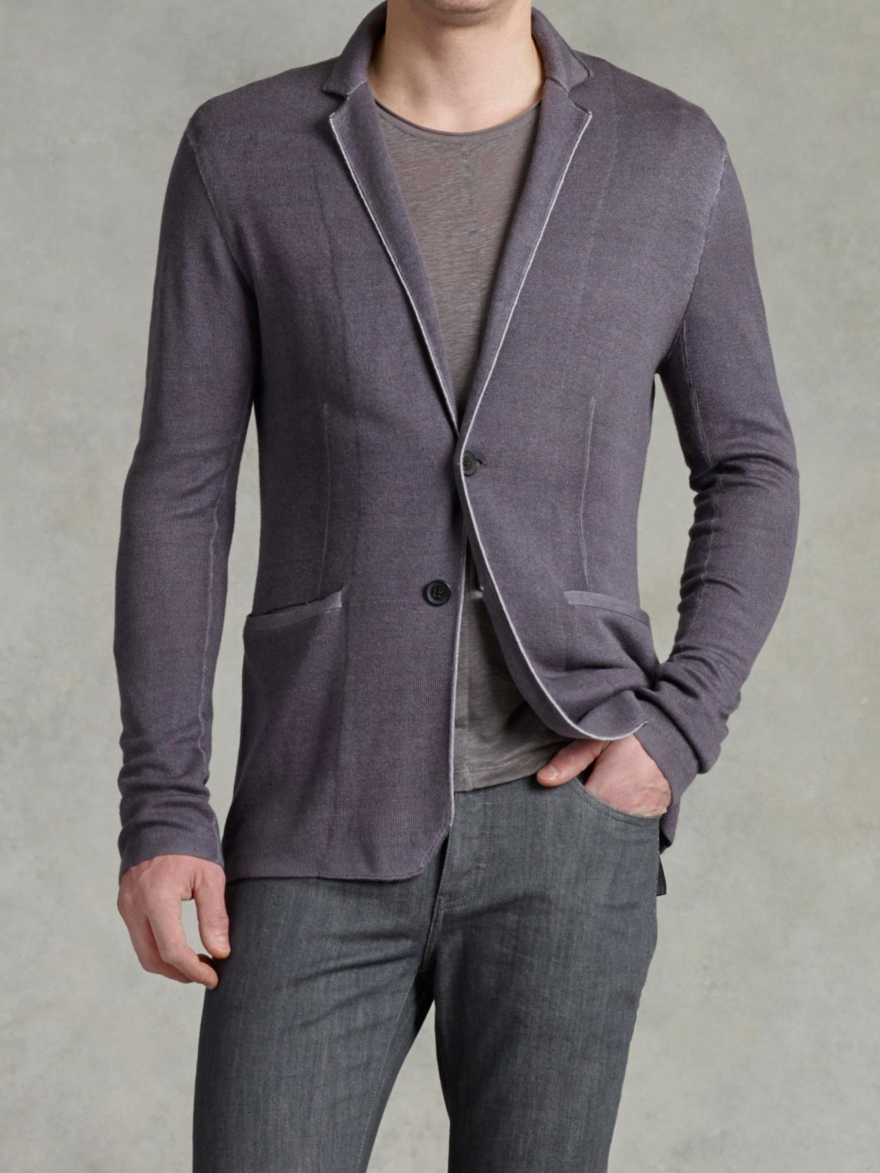 Notch Lapel Sweater Jacket