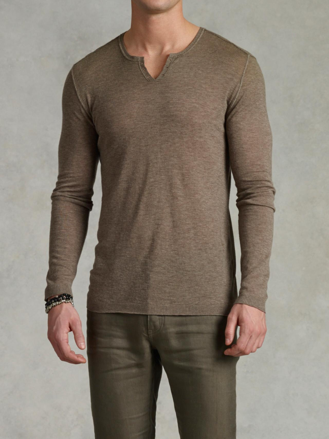 Dip Dye V-Neck Sweater