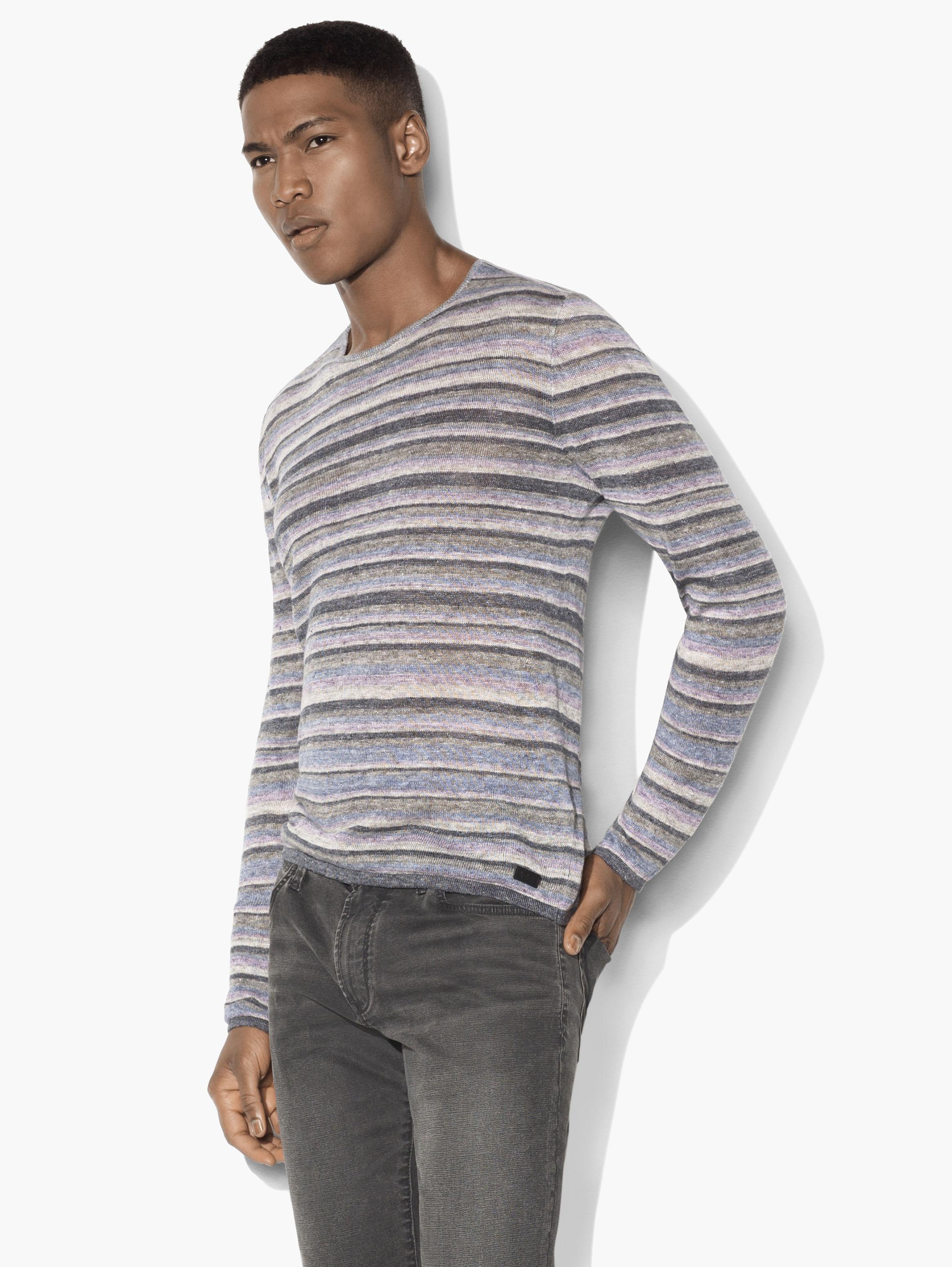 Linen Striped Crewneck