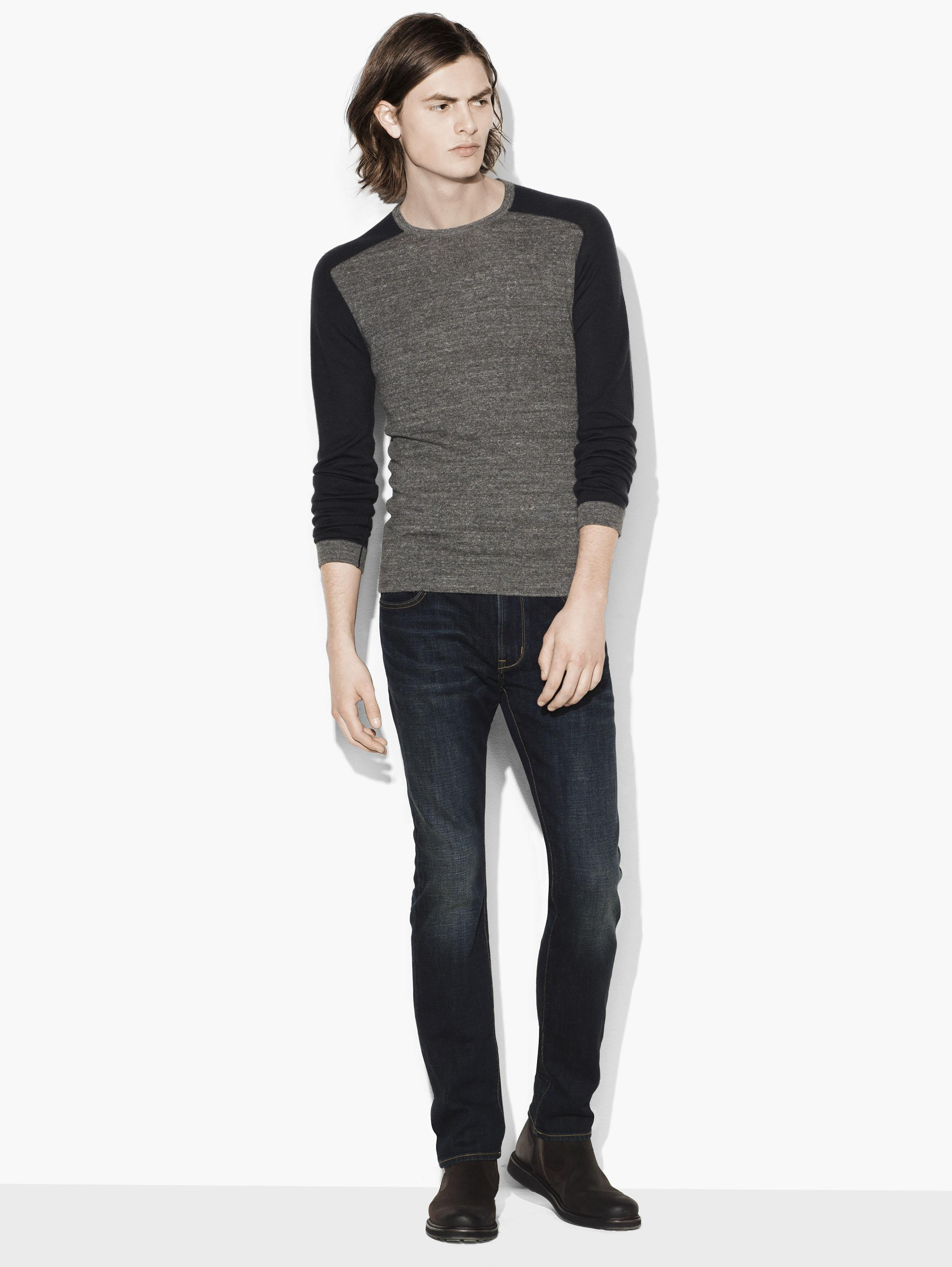 Saddle Shoulder Crewneck Sweater