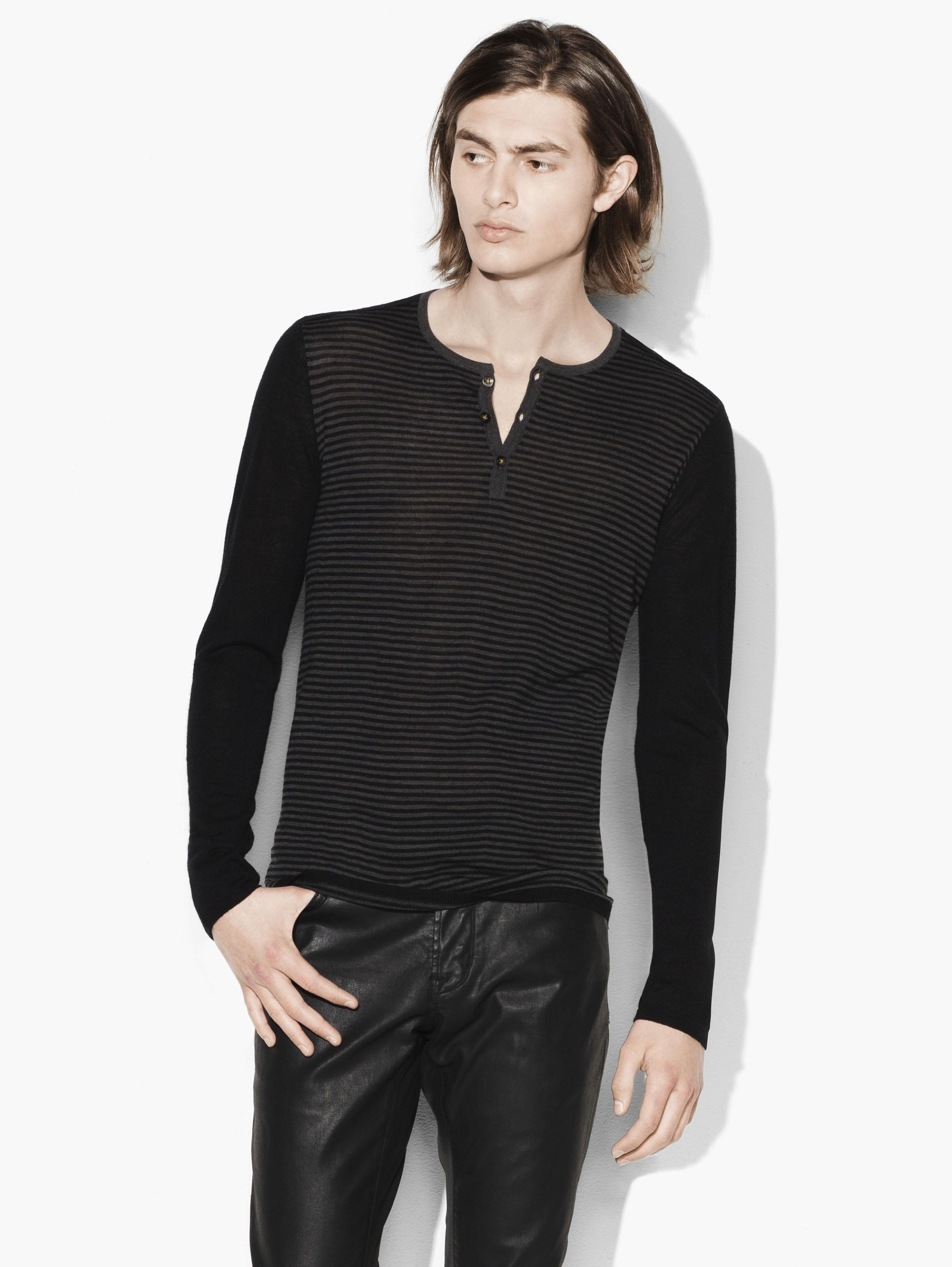 Lightweight Henley Sweater