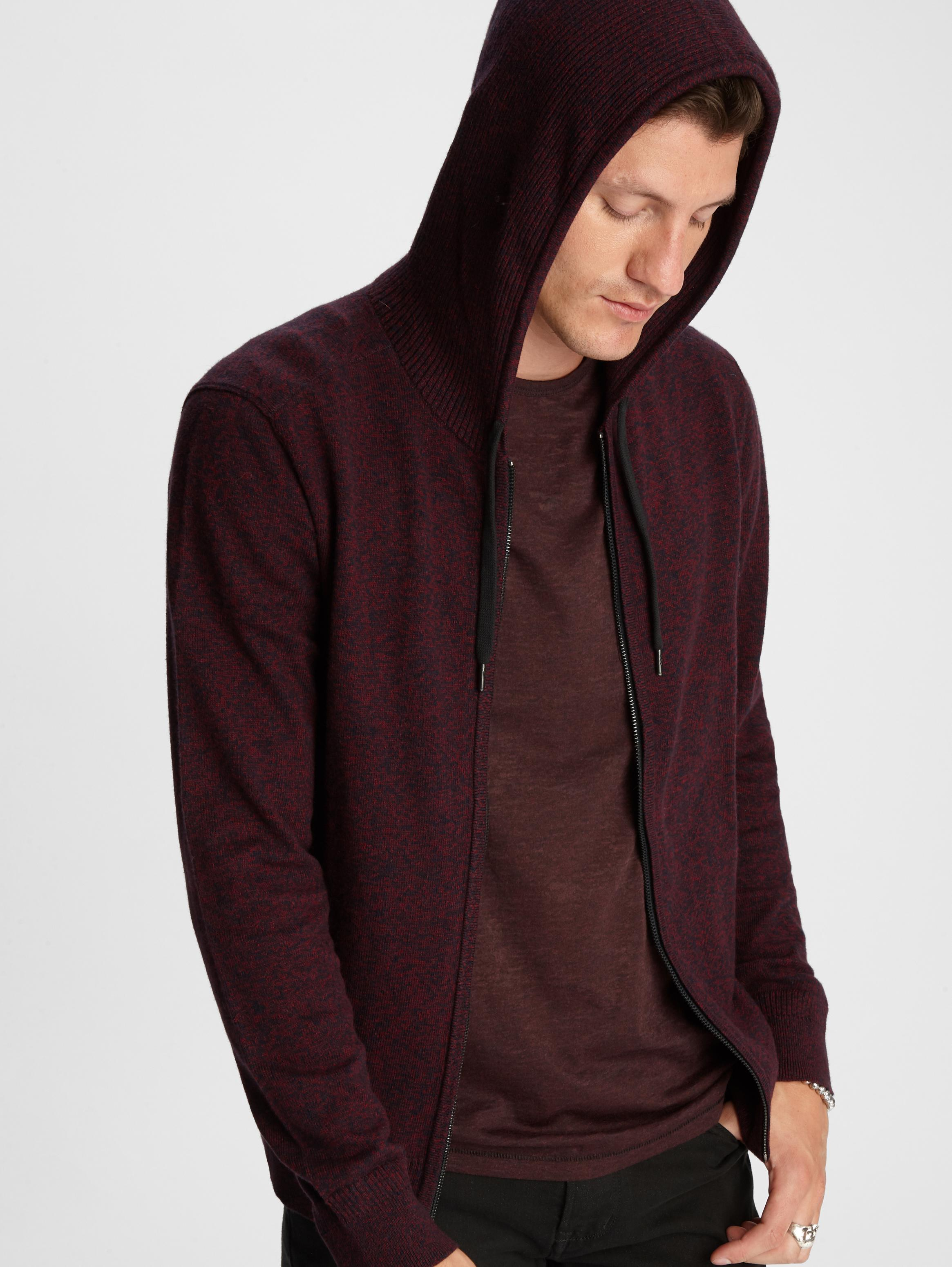 John Varvatos Richmond Zip-Up Hoodie Port