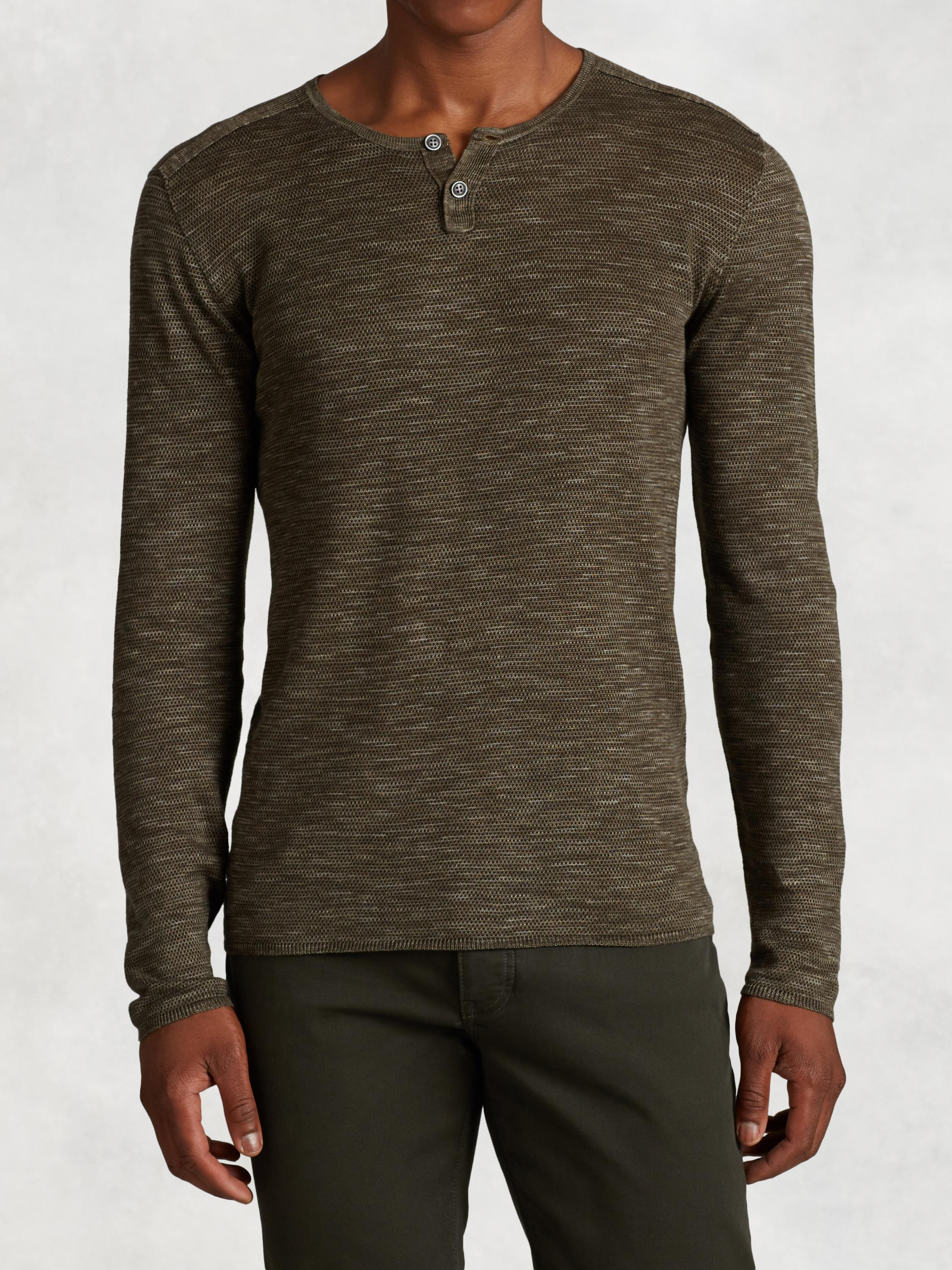 Linen Cotton Henley Sweater