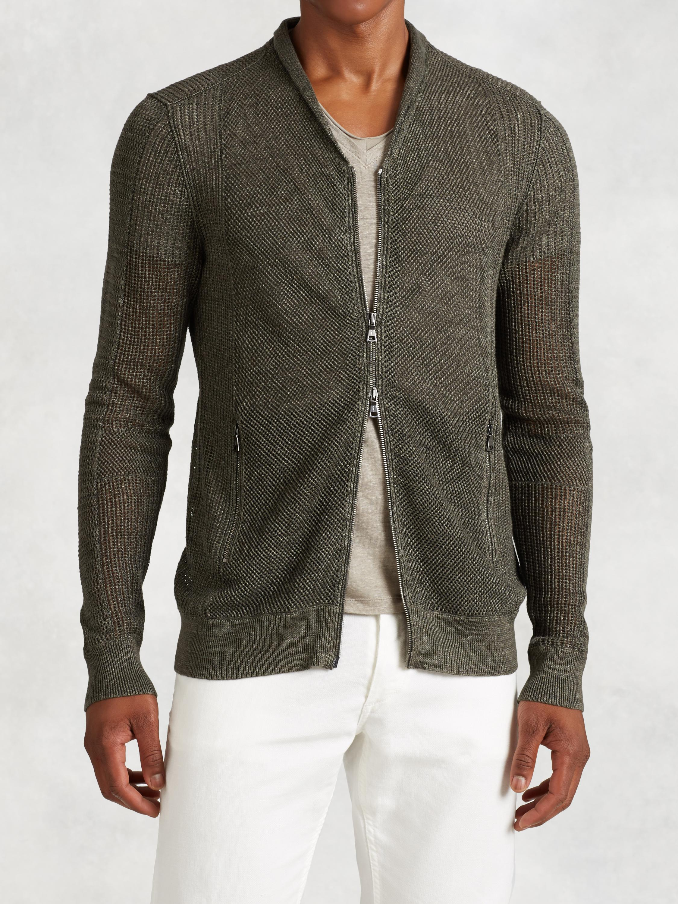 Linen Cotton Open Weave Cardigan