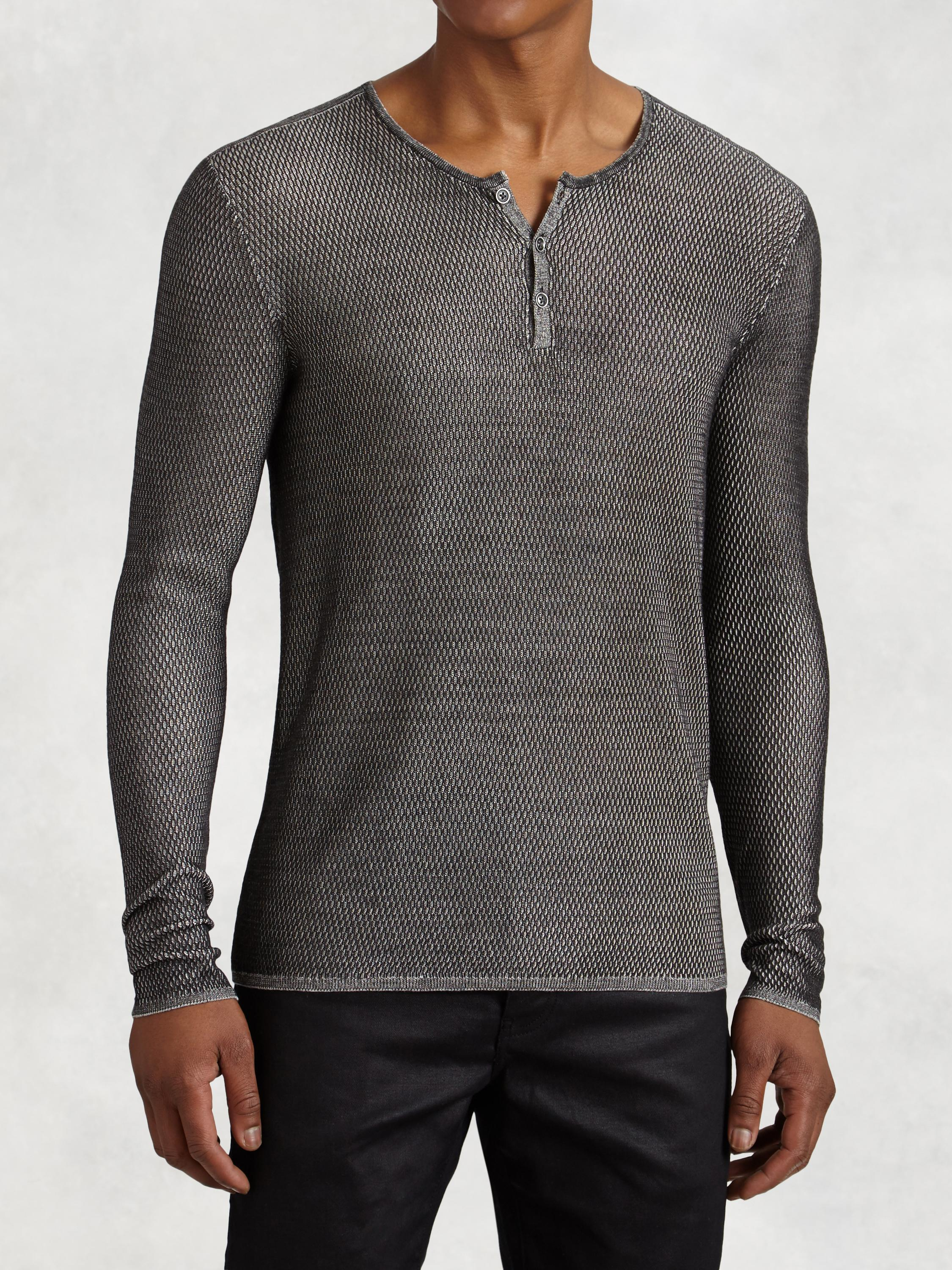 Silk Henley Sweater