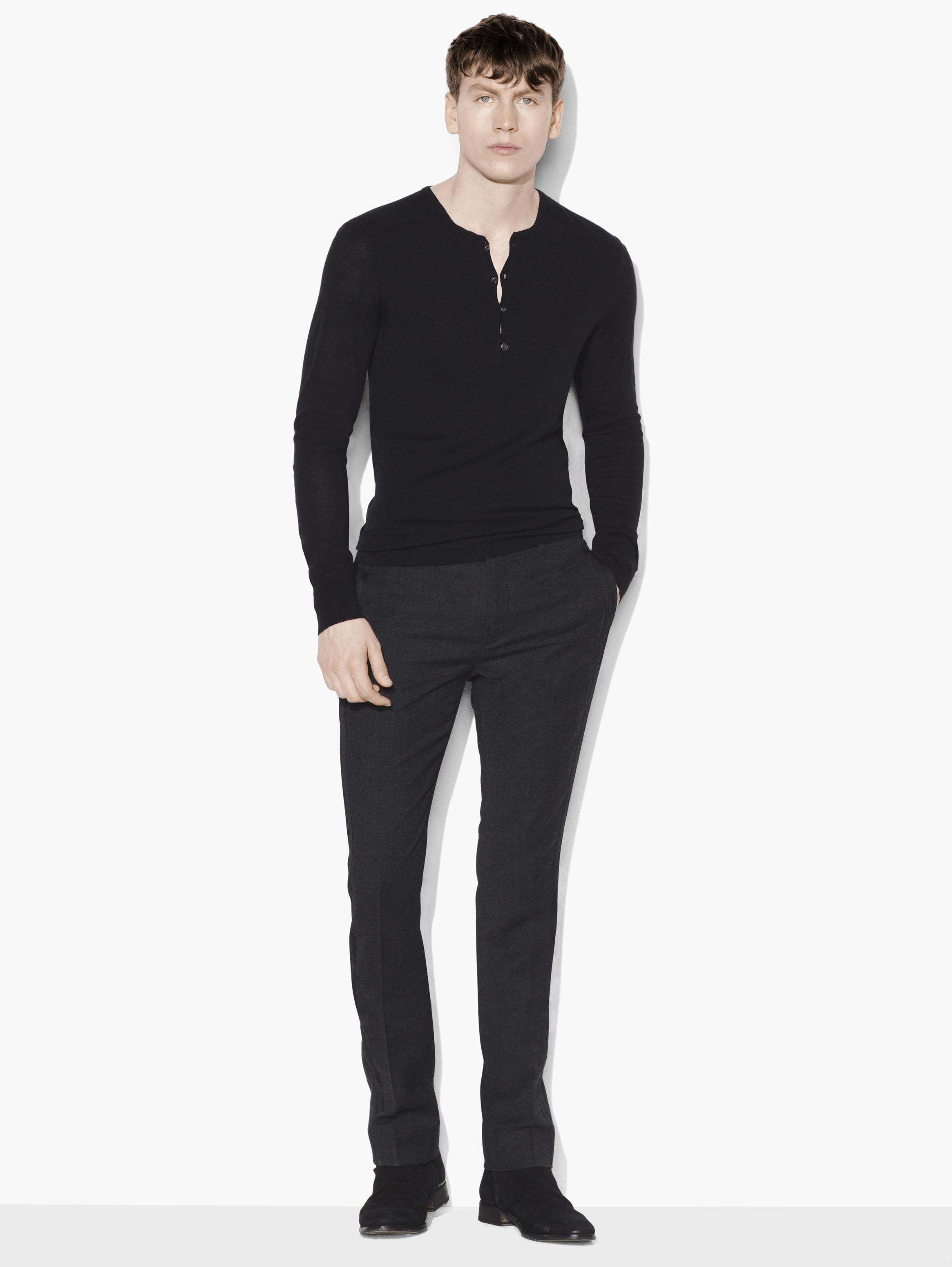 Silk & Cashmere Henley Sweater