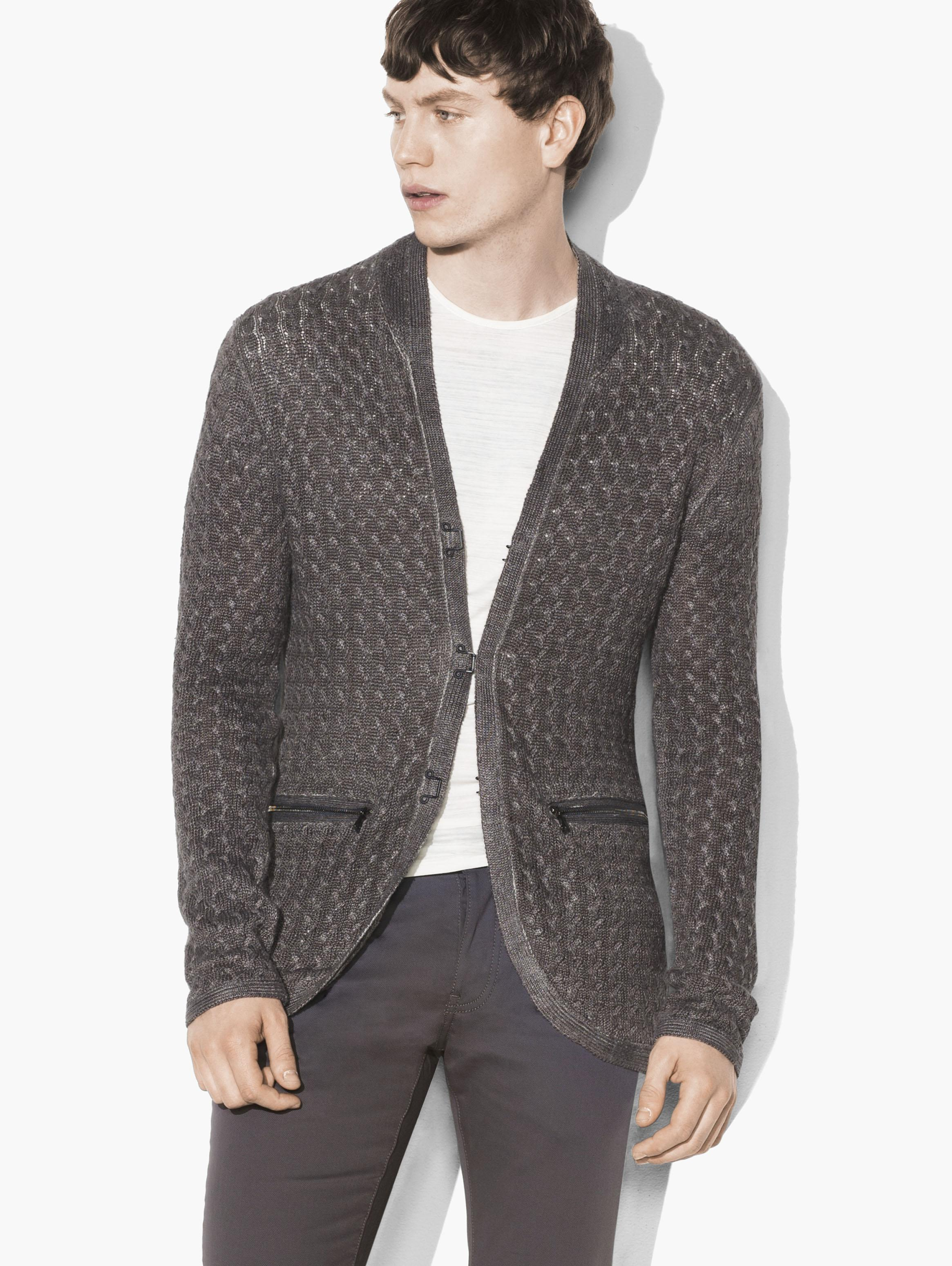 Hook & Bar Cable Sweater Jacket