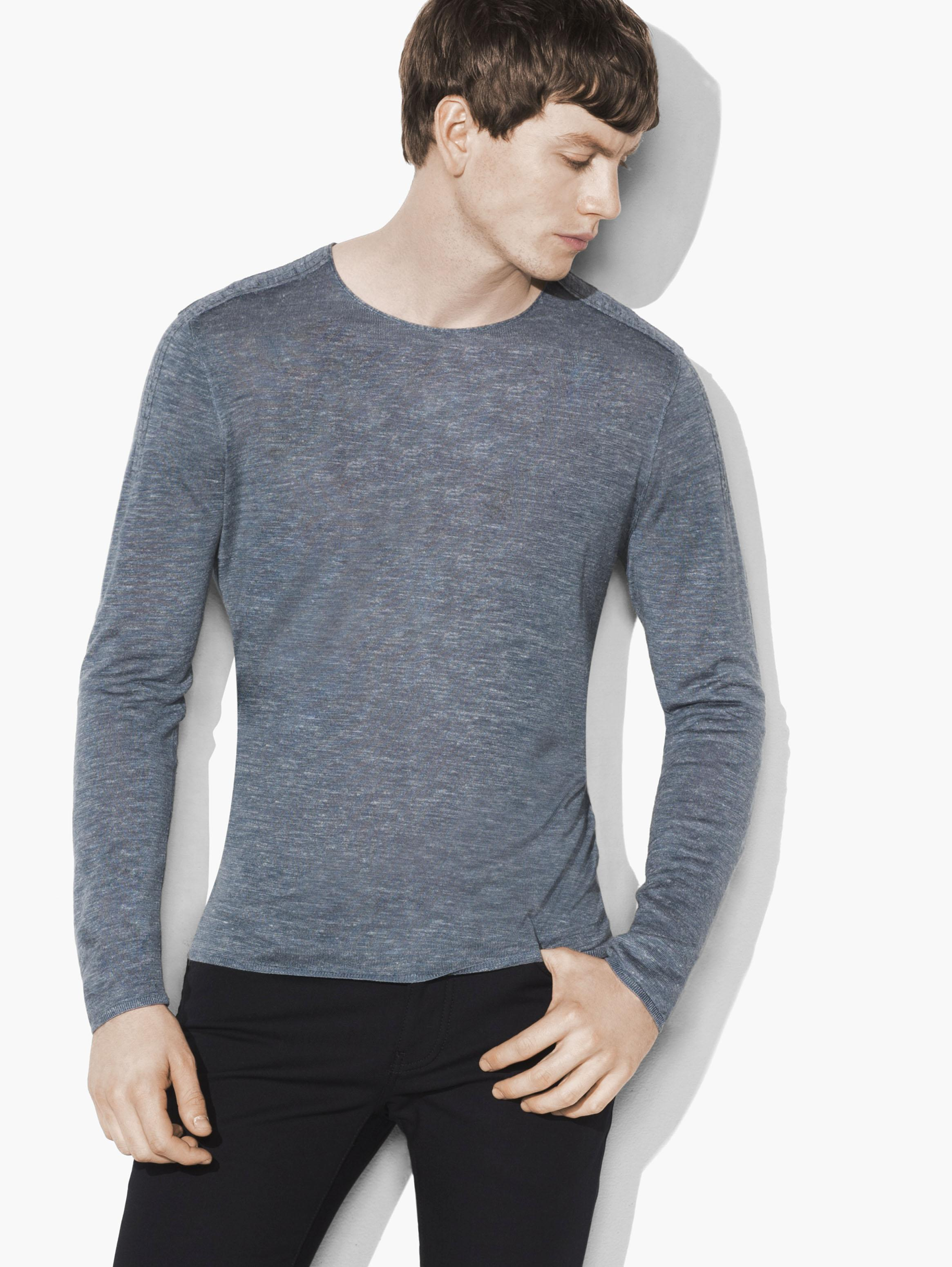 Silk Linen Crewneck Sweater