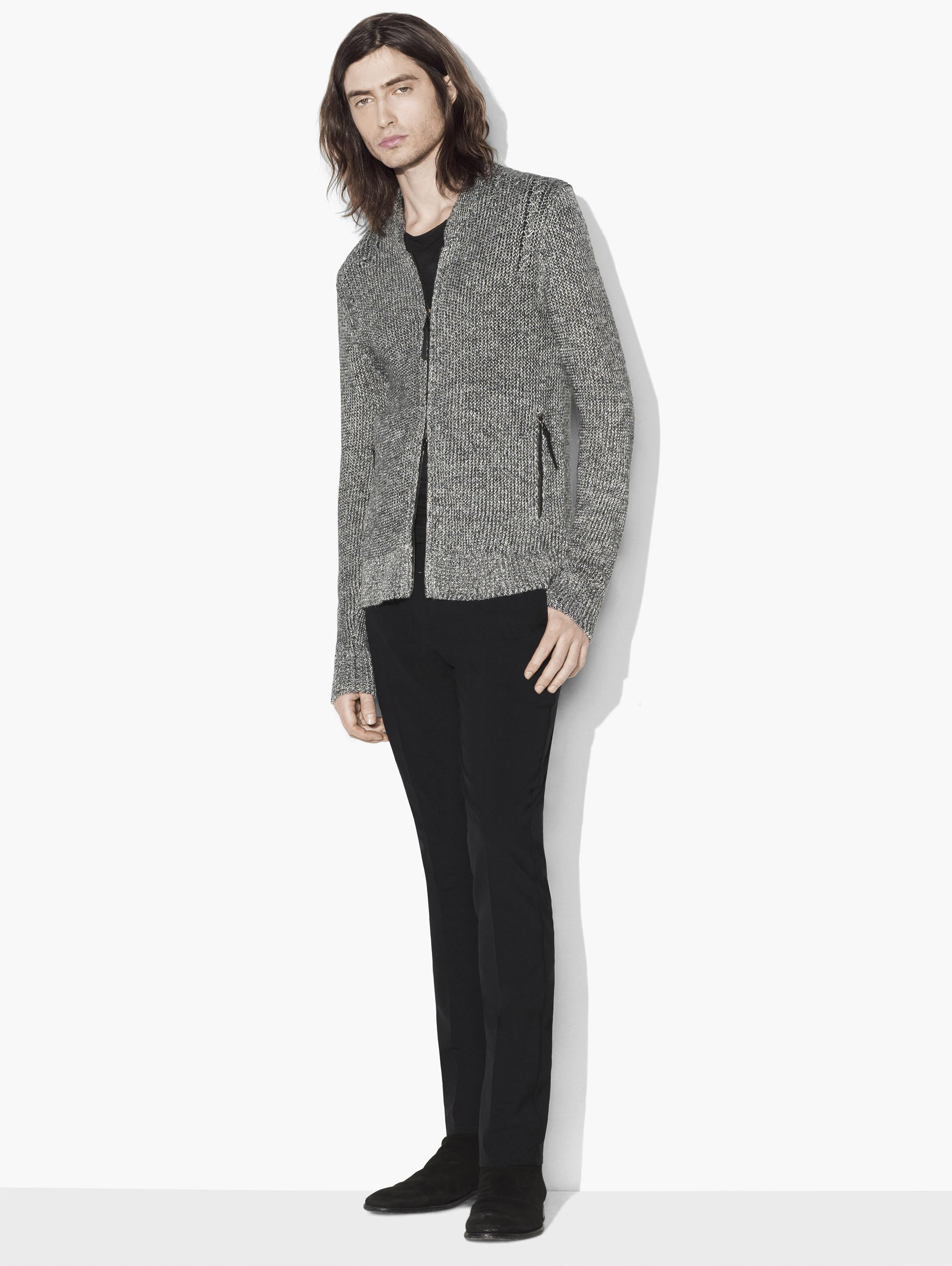 Shawl Collar Zipped Cardigan