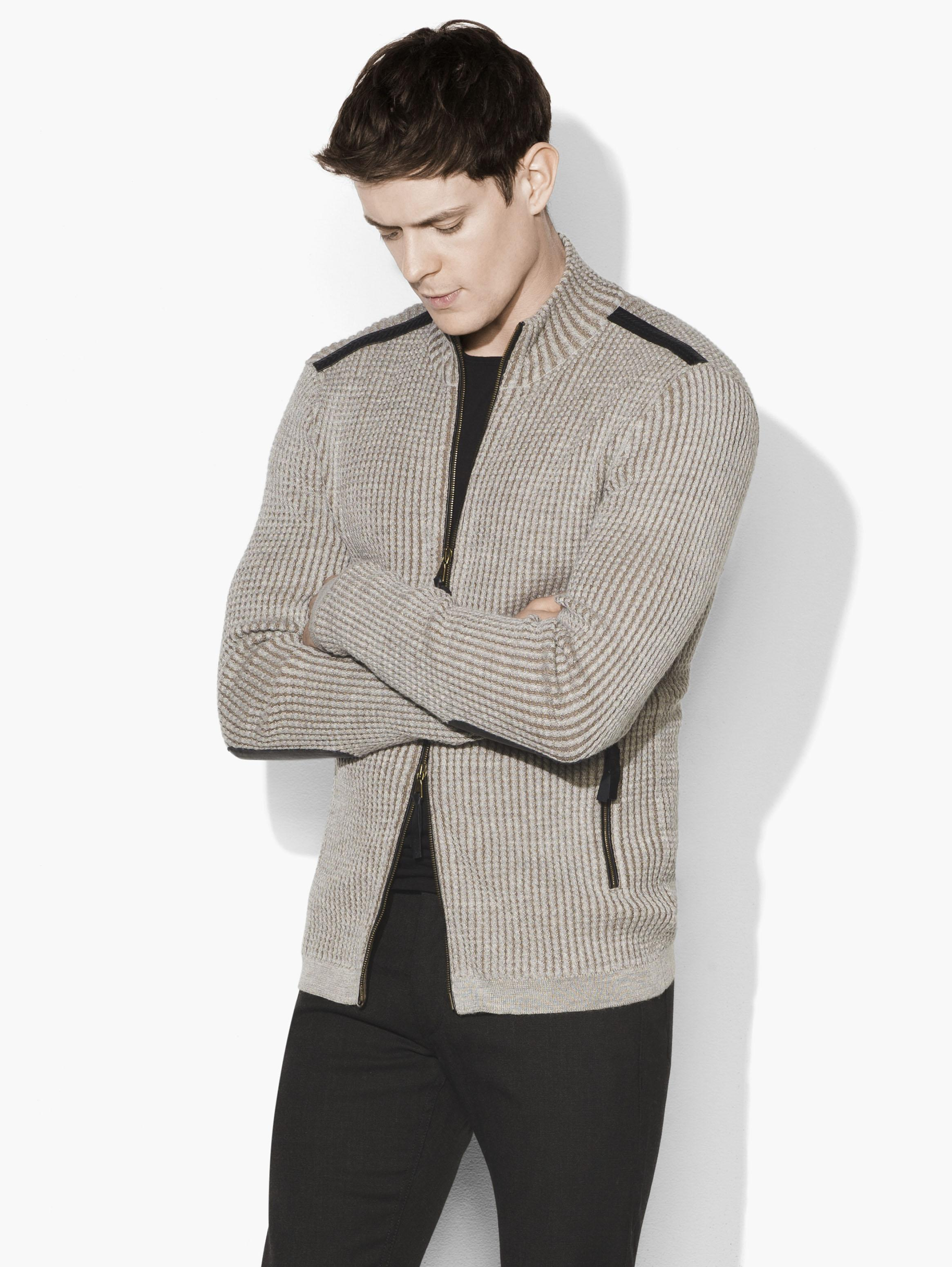 Twisted Cable Artisan Sweater Jacket