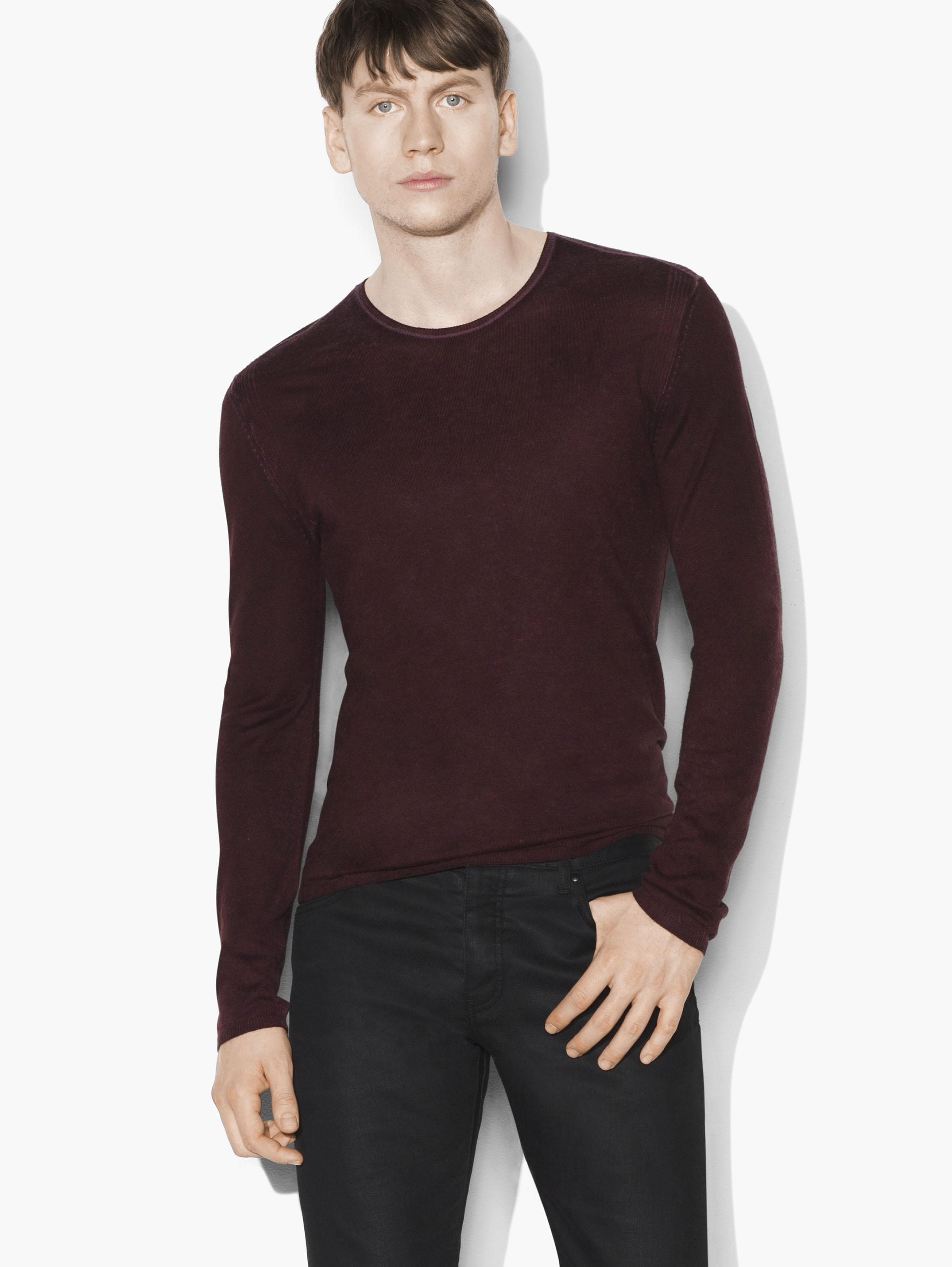 Silk Cashmere Crewneck Sweater