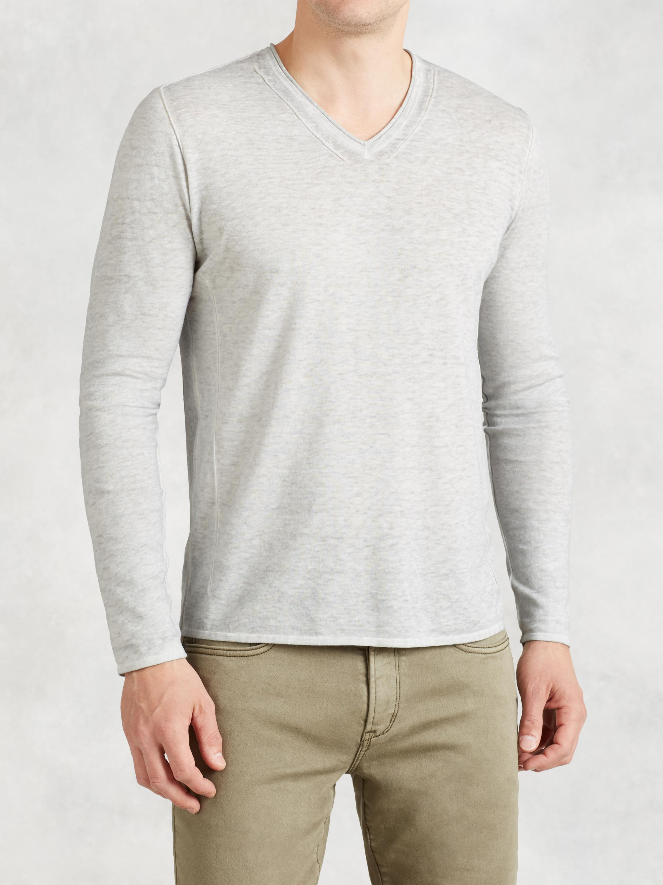 Pintuck V-Neck Sweater