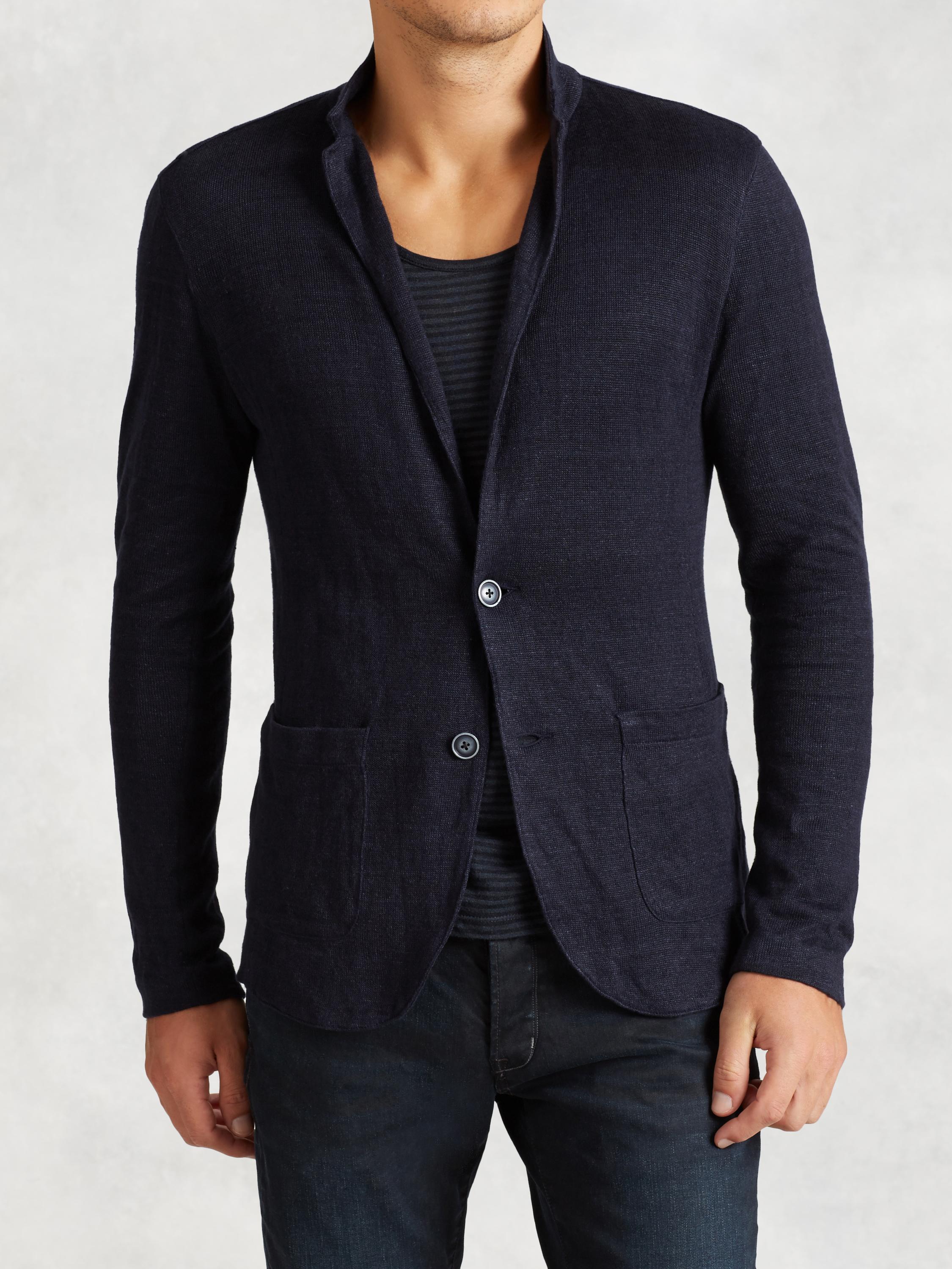 Linen Cotton Sweater Blazer
