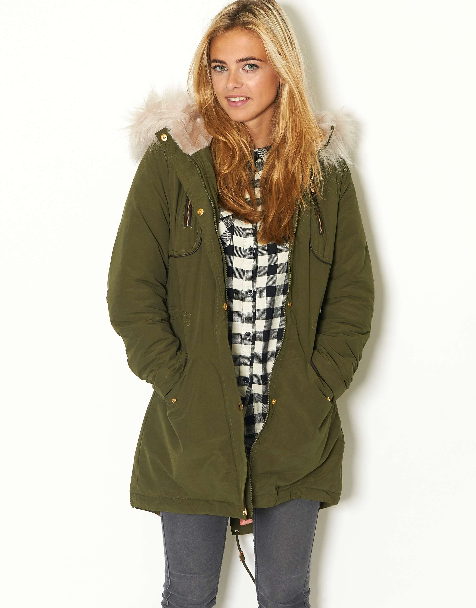 Winter Coat Green Womans - House of Fraser