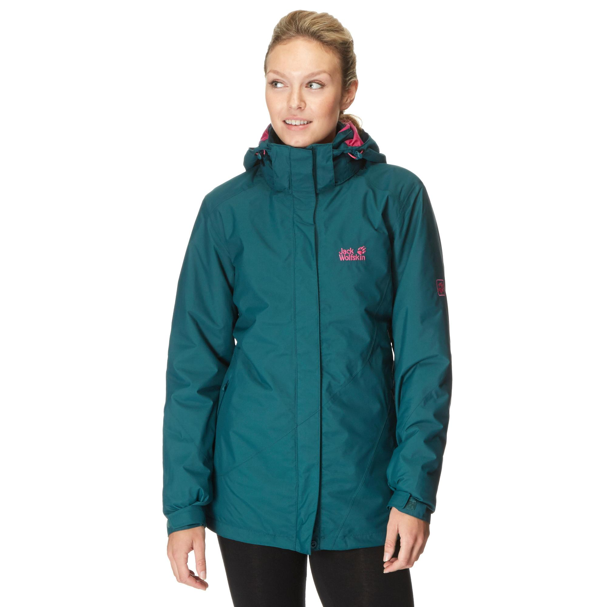 Jack Wolfskin Womens Arbourg 3 in 1 Texapore Hiking Jacket Green