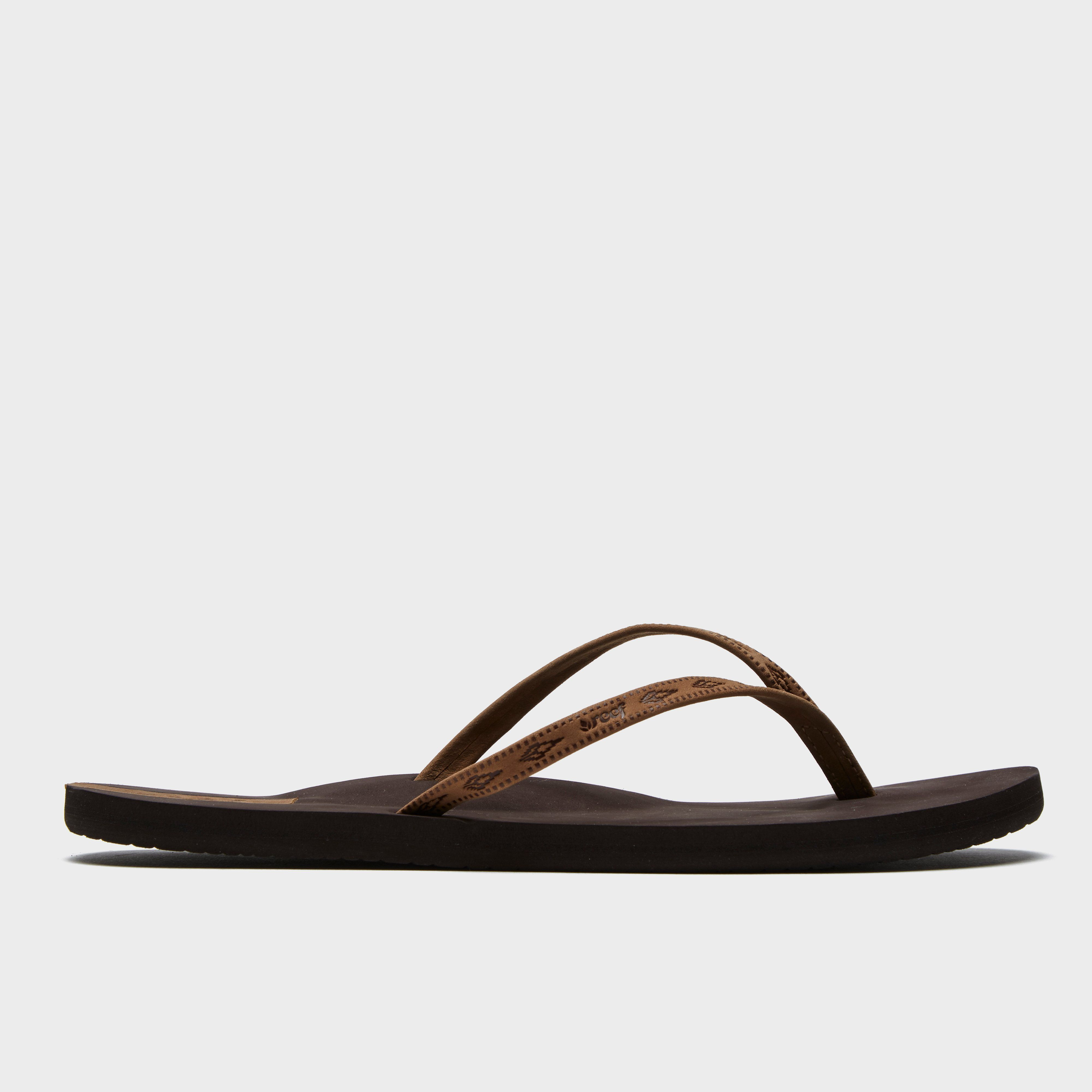 REEF Women's Slim Ginger Leather Flip Flops