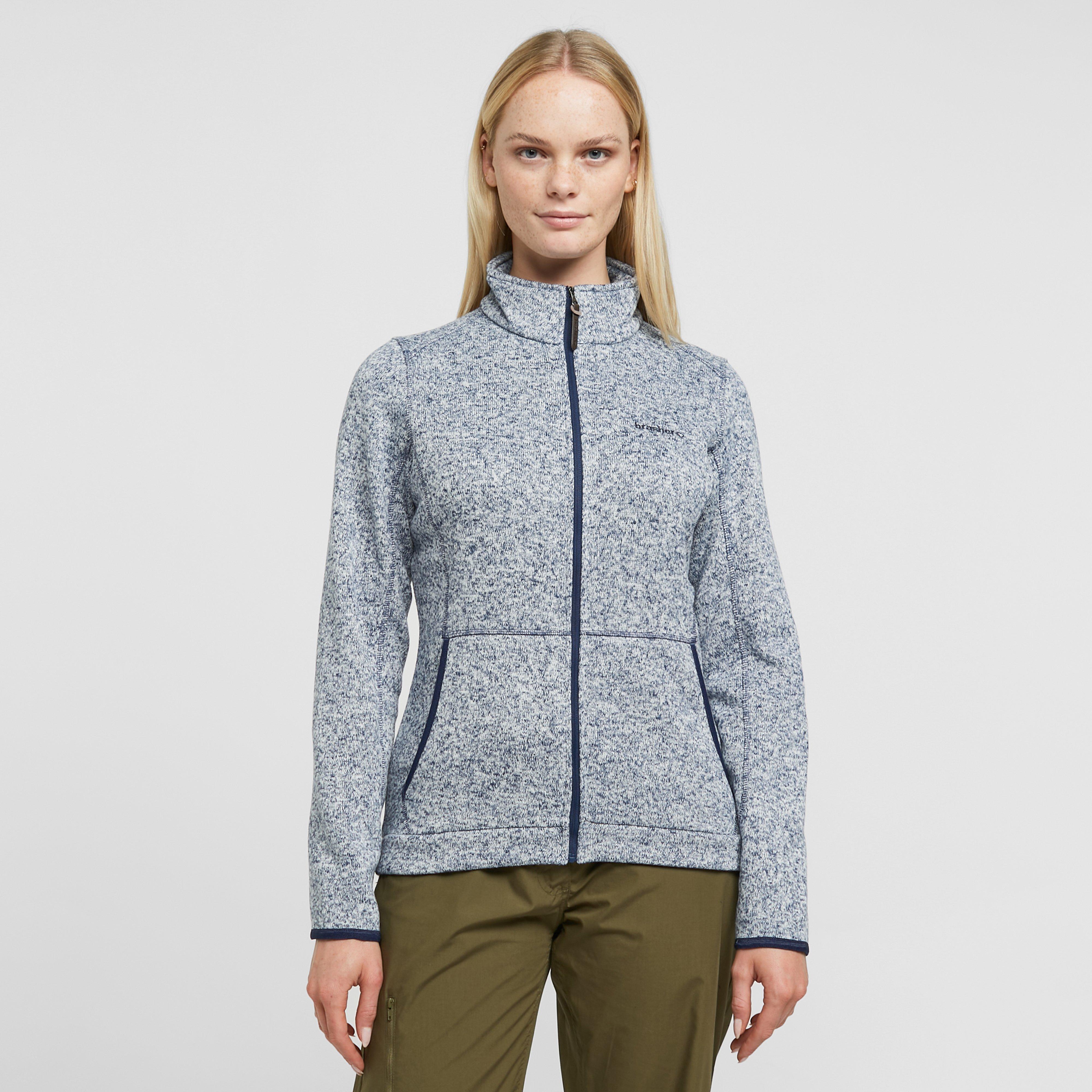 Brasher Womens Rydal Knit Fleece Jacket - Navy/nvy  Navy/nvy