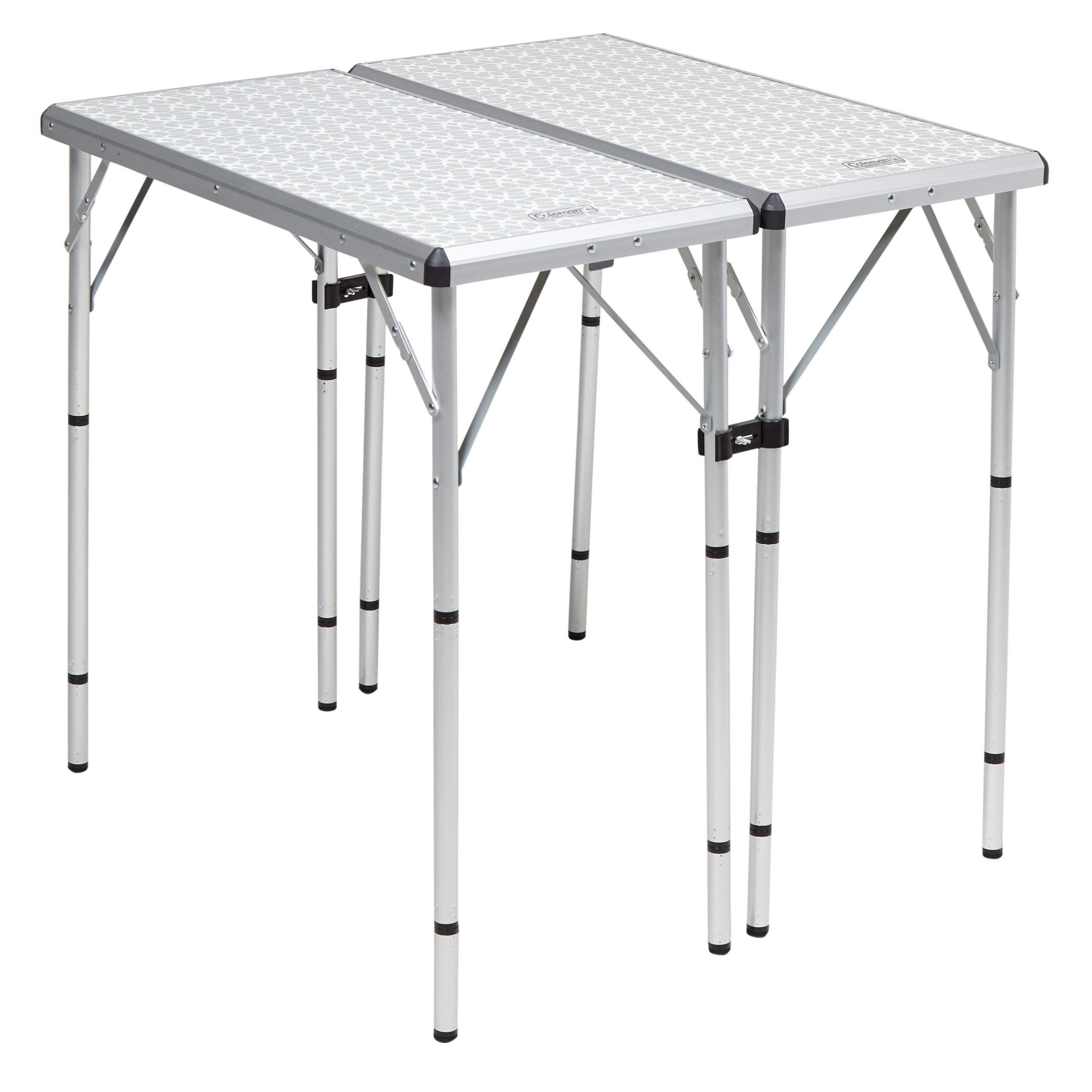 Coleman 6 in 1 Camping Table  White White
