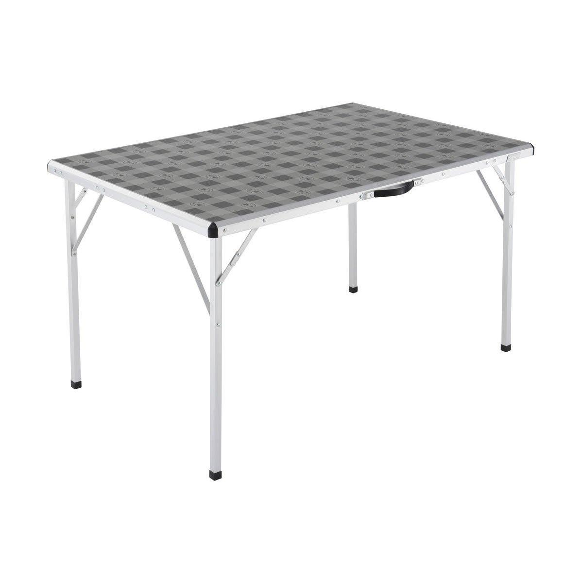 Coleman Folding Table Large Silver