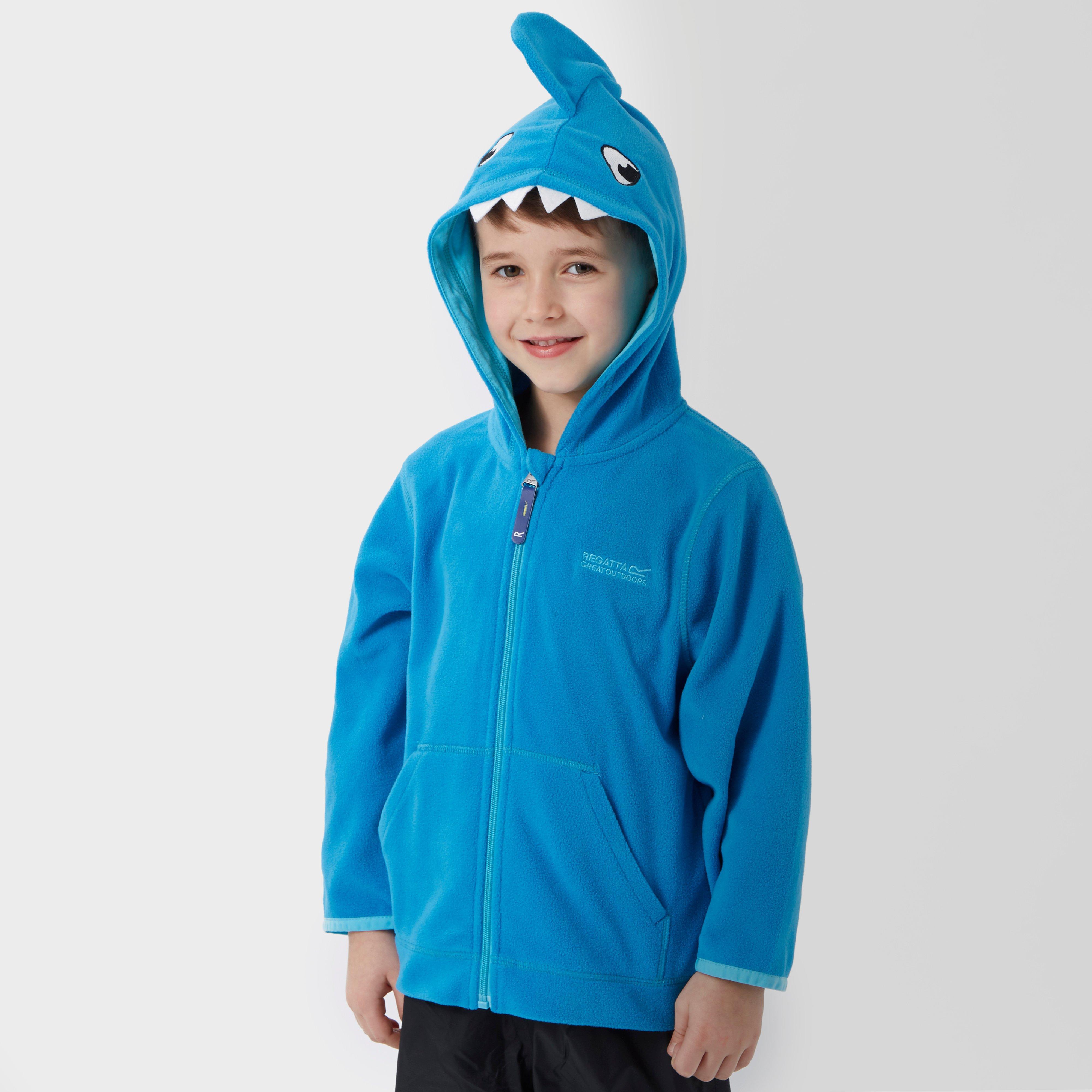 Regatta Boy's Shark Full Zip Fleece Hoodie, Blue