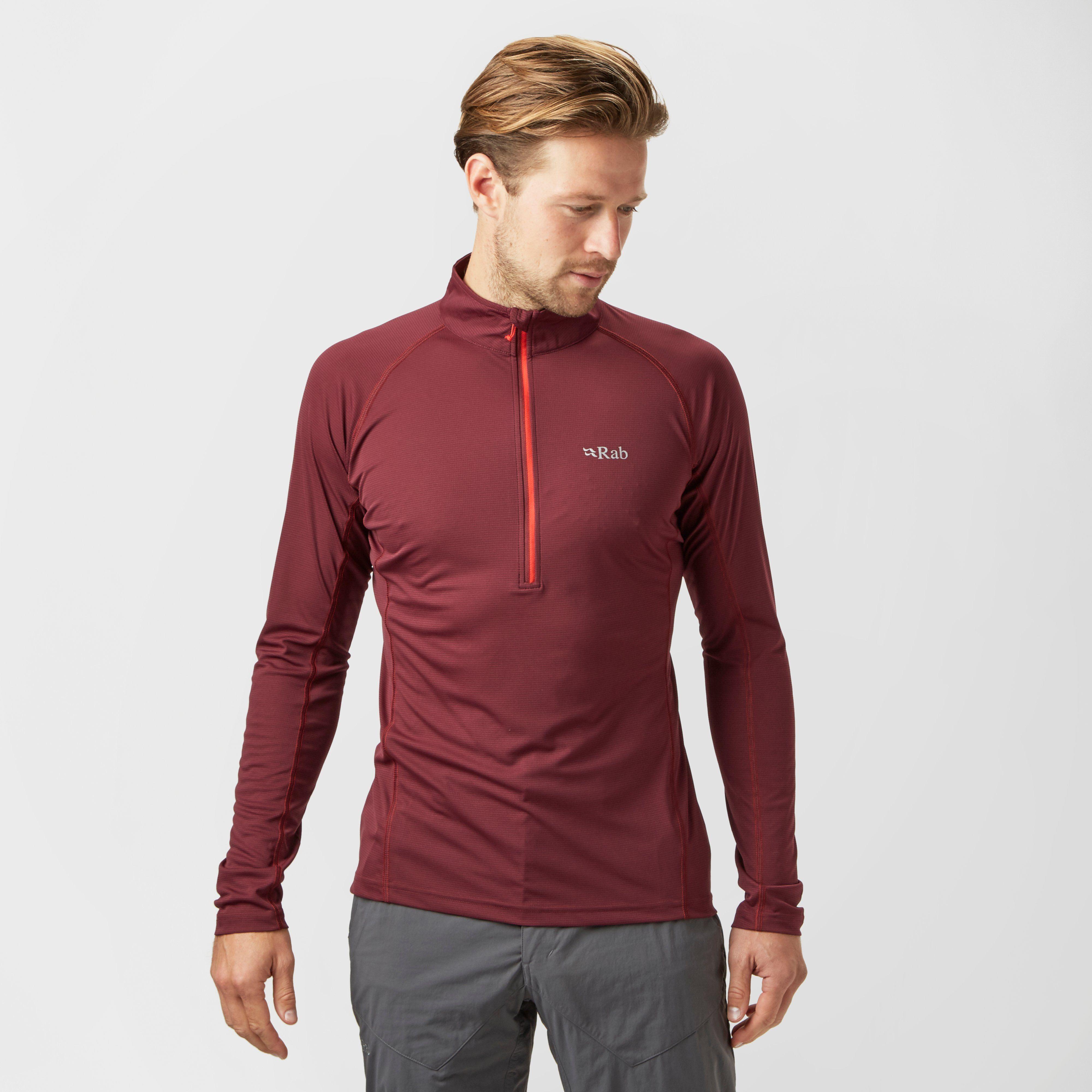 RAB Men'sInterval Long Sleeve Zip T-Shirt