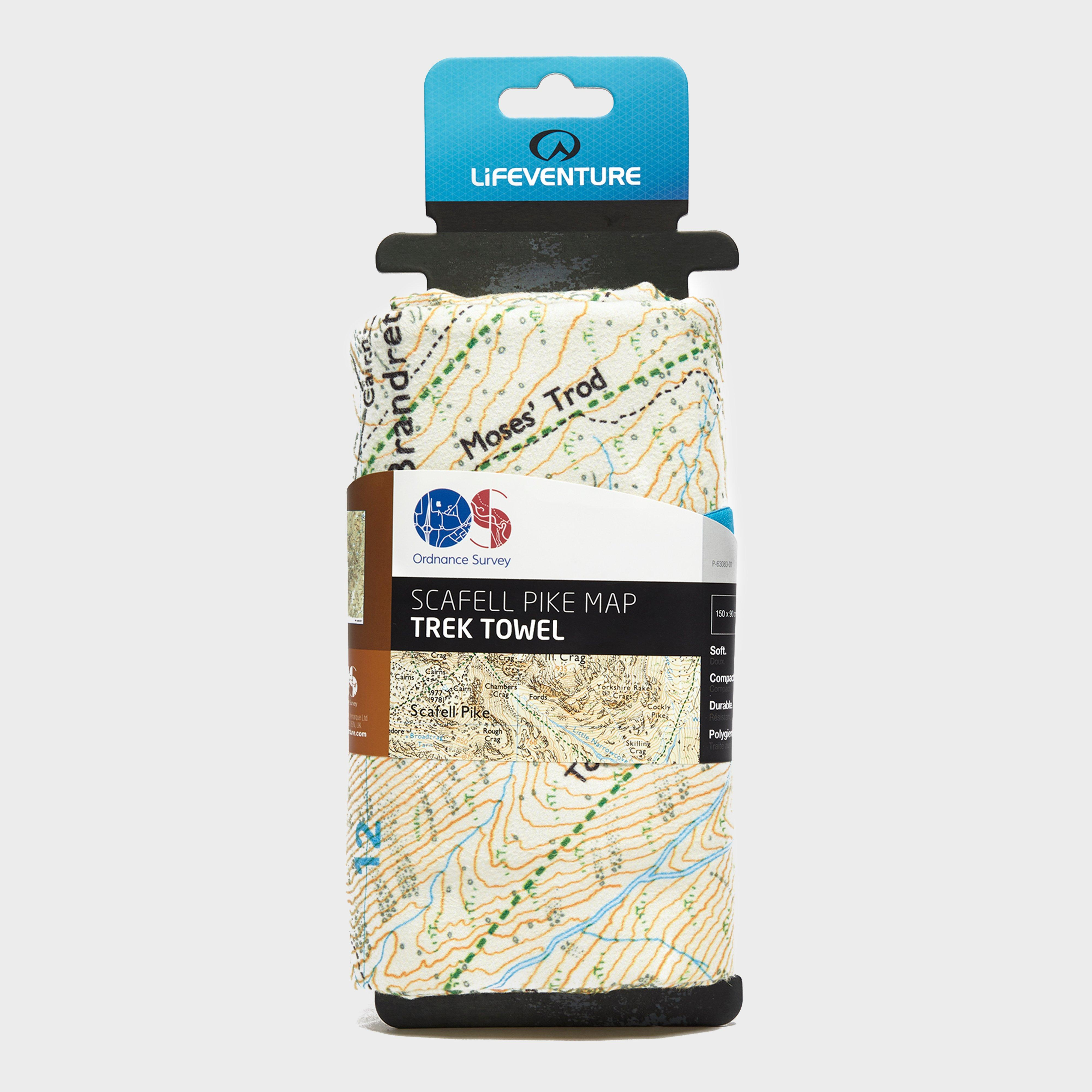 Lifeventure Giant Travel Towel (OS Scafell Pike Map Print), Multi