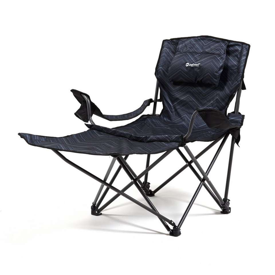Folding camping chairs with footrest - Outwell Windsor Hills Folding Camping Chair