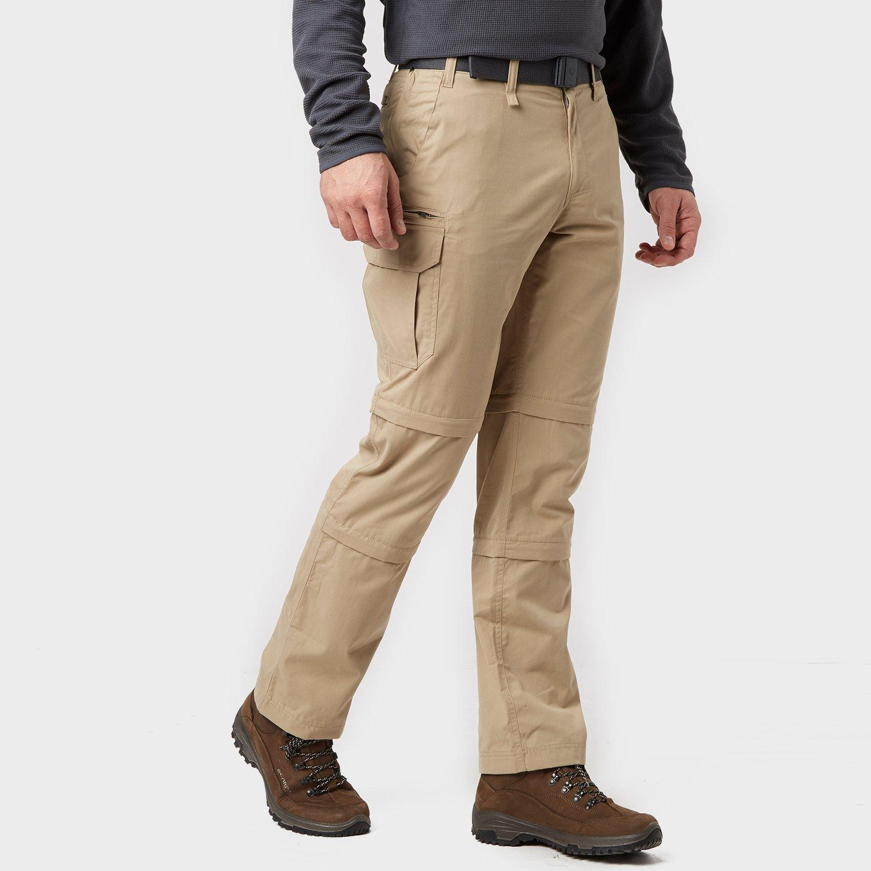 Brasher Mens Double Zip-off Trousers - Beige/stn  Beige/stn