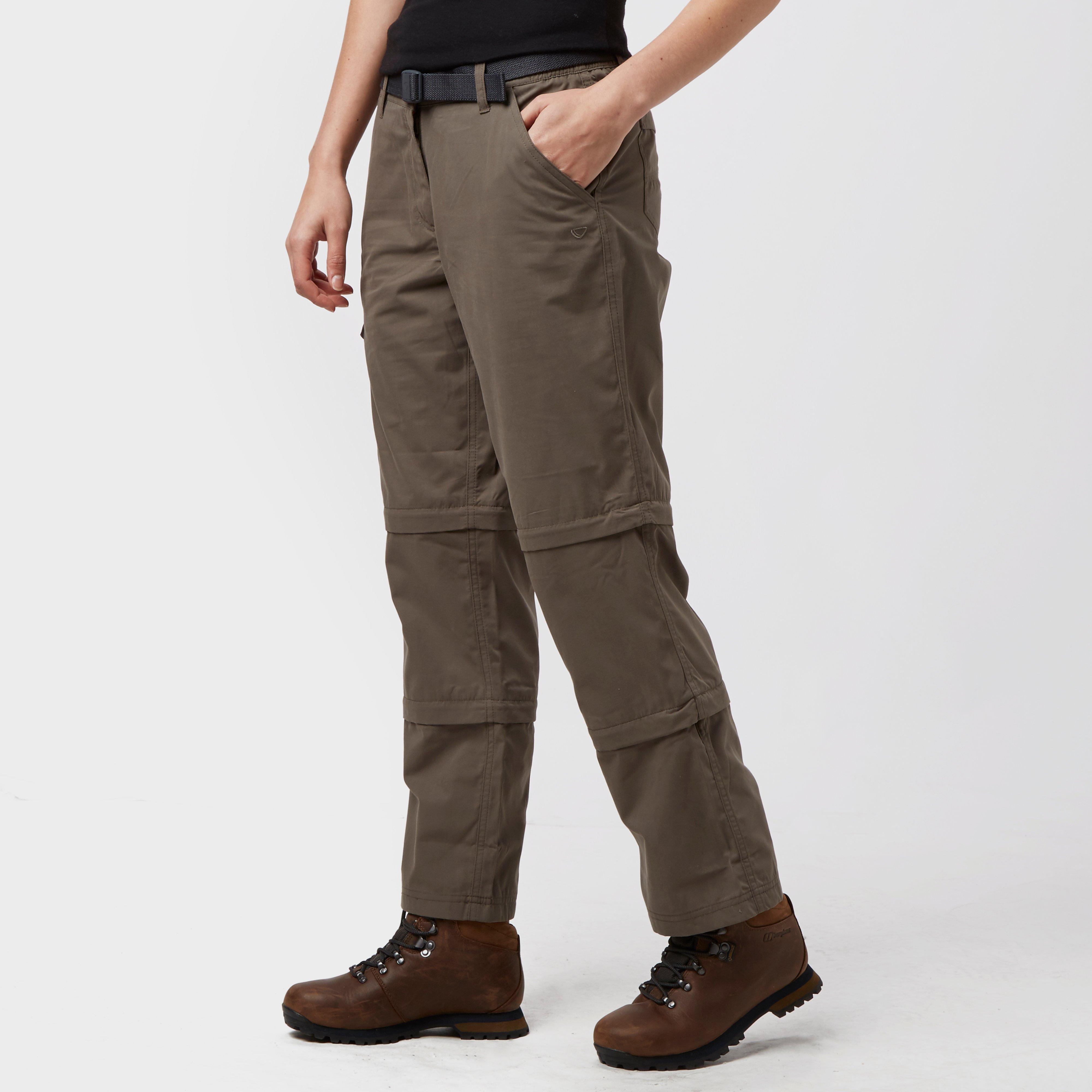Brasher Womens Double Zip-off Trousers - Brown/brown  Brown/brown