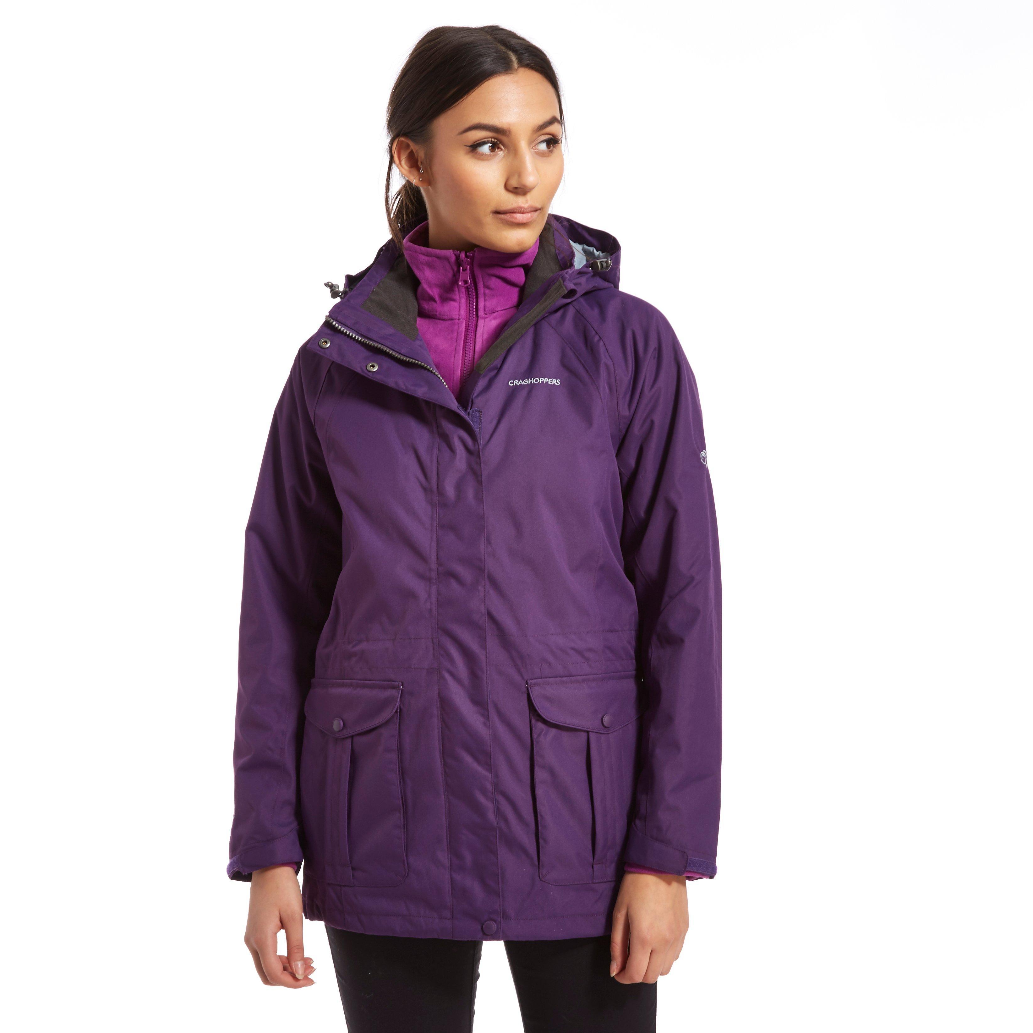Craghoppers Womens Madigan 3 in 1 Waterproof Jacket Purple