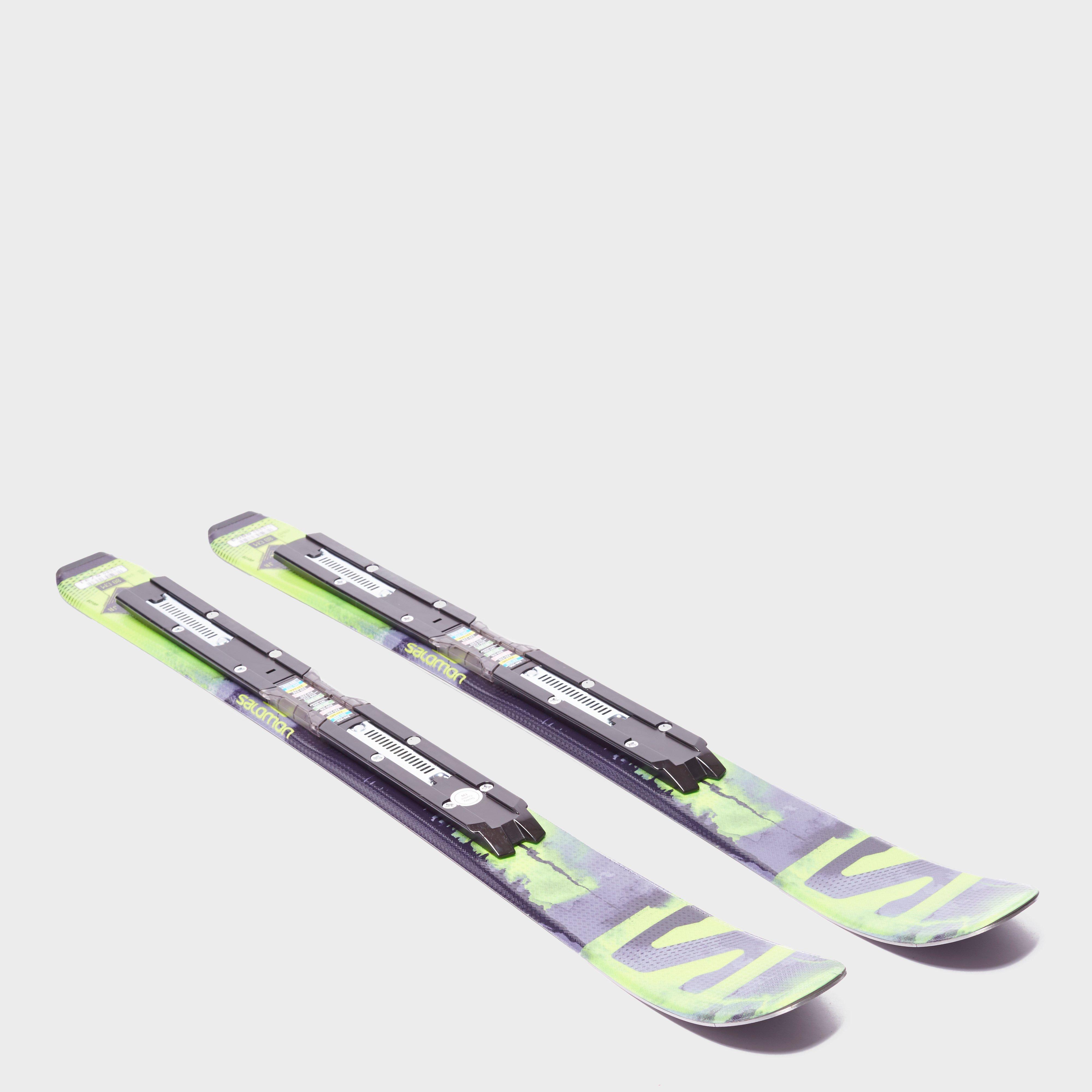 Salomon Q-Lux Jr XS Skis with EZY 7 Bindings, Black