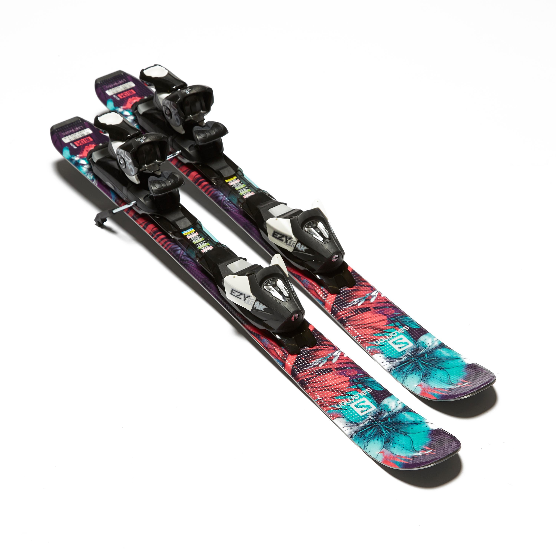 Salomon Q-Max Jr XS Skis with EZY 5 Bindings, Black