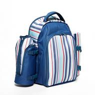 Stripe Picnic Backpack (4 person)