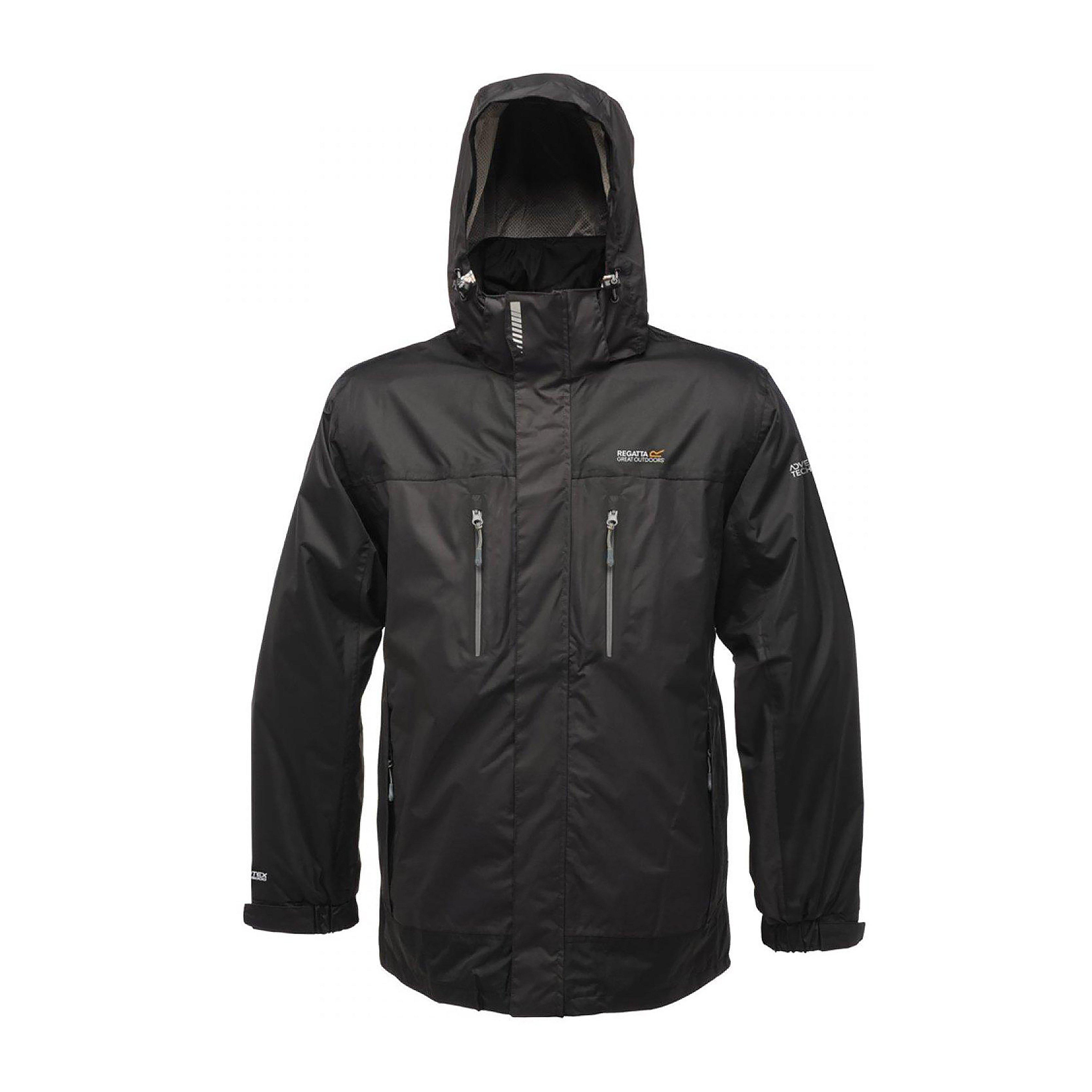 Regatta Mens Calderdale Waterproof Jacket Grey