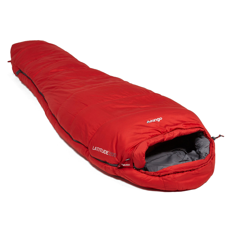 Vango Latitude 200 3 Season Sleeping Bag  Red Red