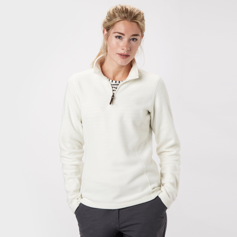 Brasher Women's Bleaberry Half Zip Fleece, Grey