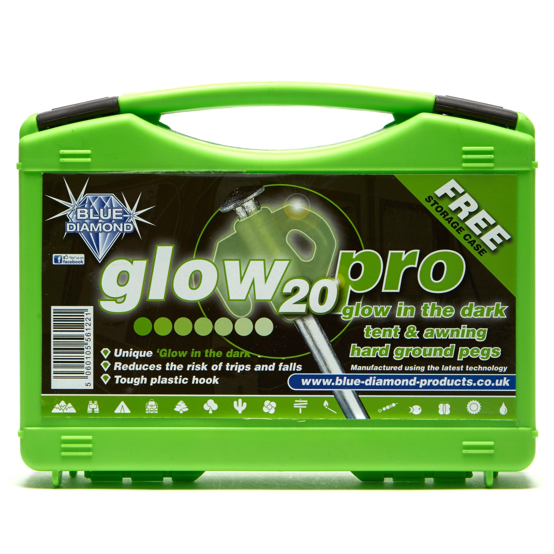 Blue Diamond Glow Pegs X 20 - Green/yel  Green/yel