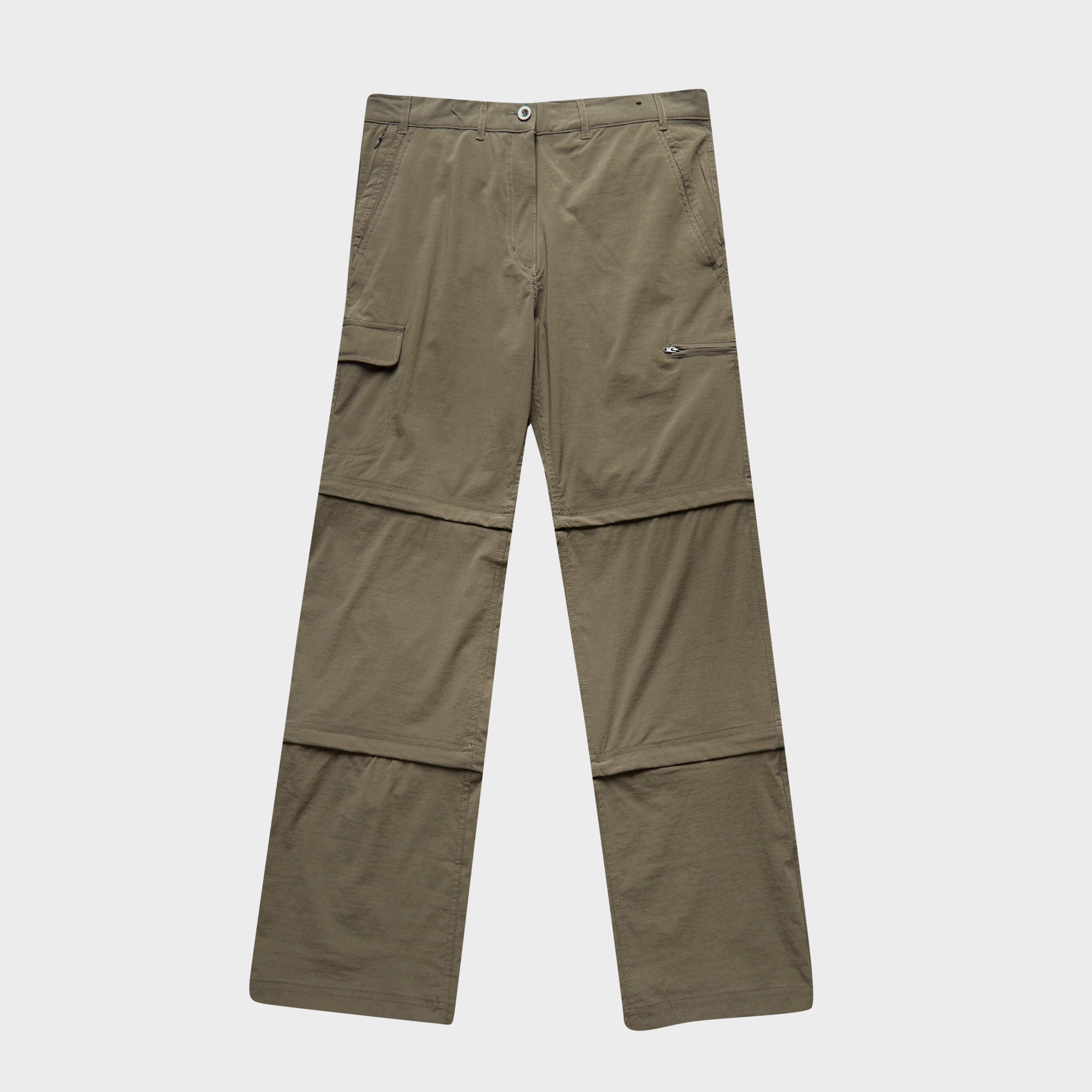 Peter Storm Womens Stretch Double Zip Off Trousers Khaki