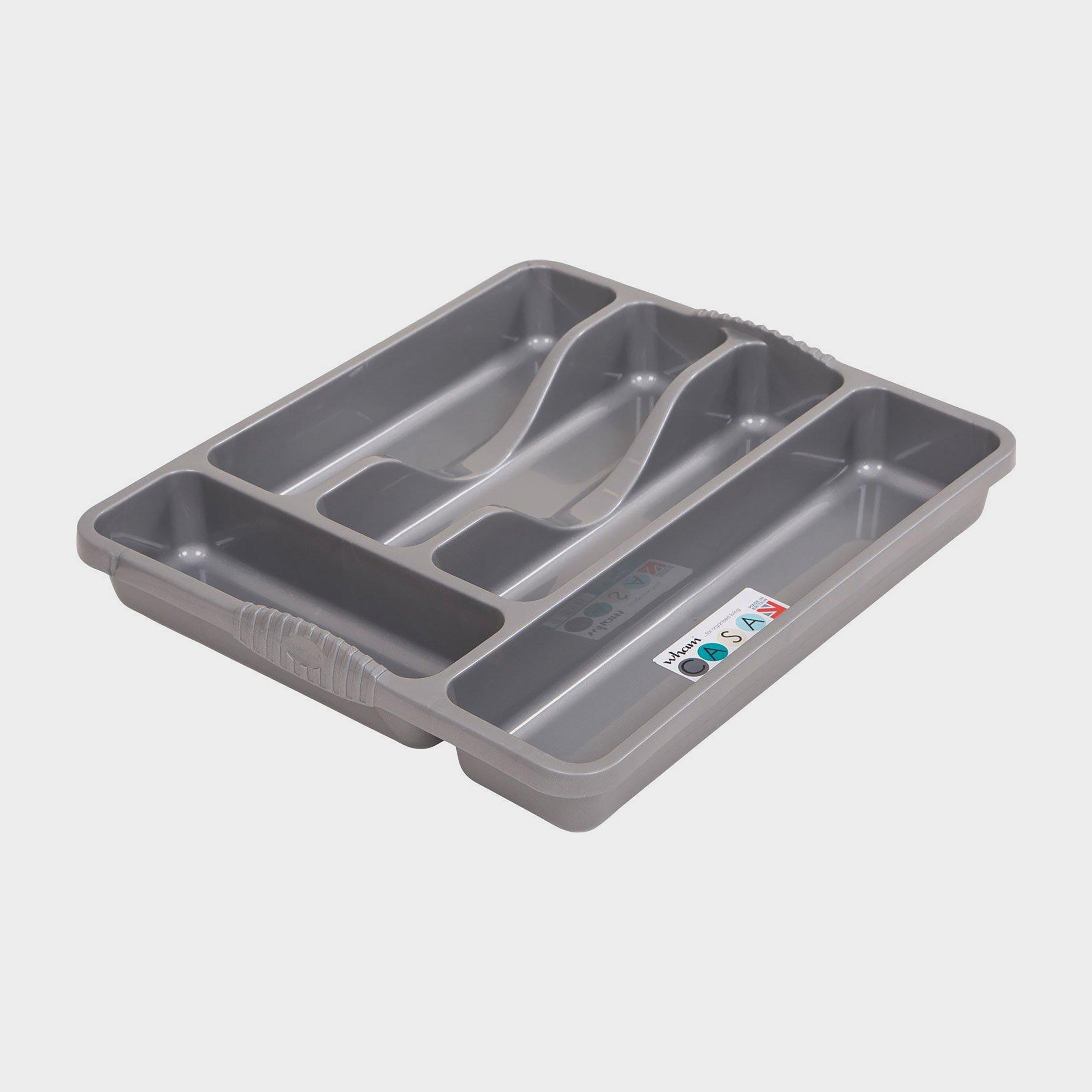 Quest Plastic Cutlery Organiser - Grey/tray  Grey/tray