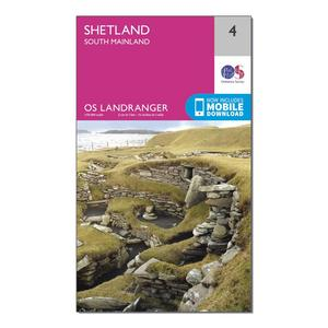 ORDNANCE SURVEY Landranger 4 Shetland  South Mainland Map With Digital Version