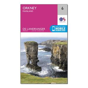 ORDNANCE SURVEY Landranger 6 Orkney  Mainland Map With Digital Version