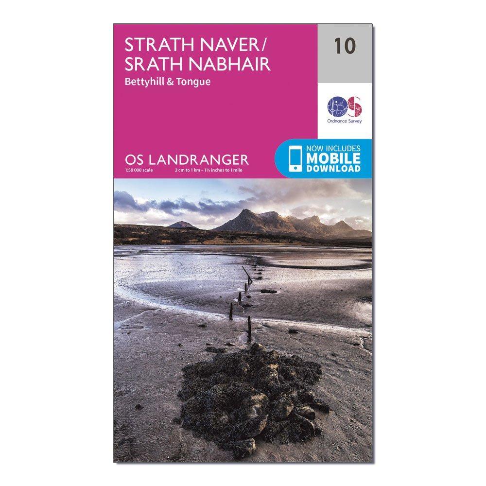 Ordnance Survey Landranger 10 Strathnaver  BettyhillandTongue Map With Digital Version - Pink/d  Pink/d
