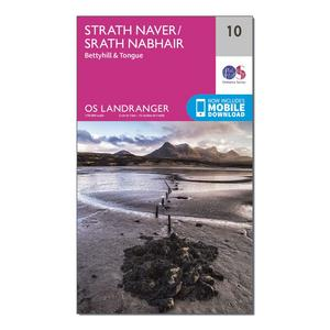 ORDNANCE SURVEY Landranger 10 Strathnaver, Bettyhill & Tongue Map With Digital Version