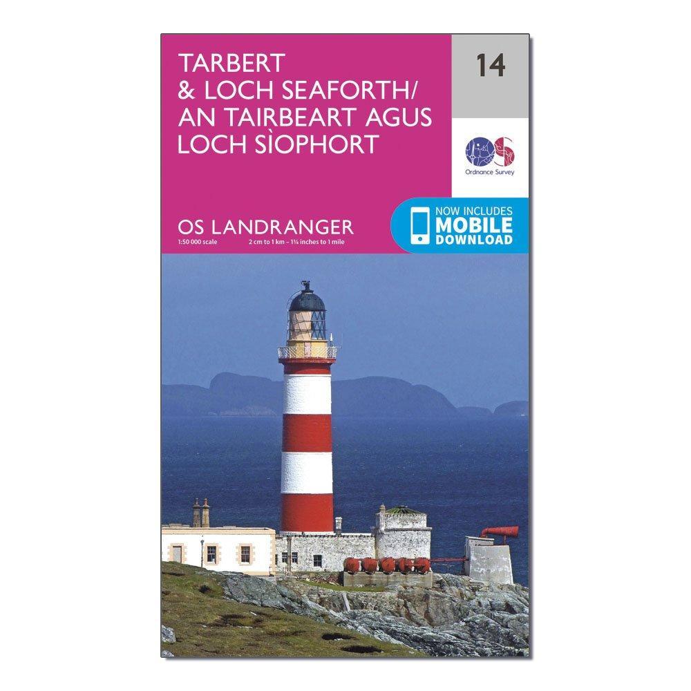 Ordnance Survey Landranger 14 TarbertandLoch Seaforth Map With Digital Version - Pink/d  Pink/d