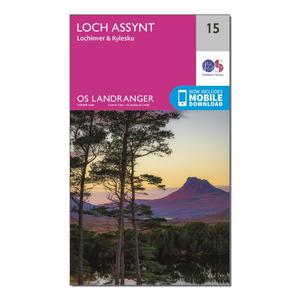 ORDNANCE SURVEY Landranger 15 Loch Assynt, Lochinvar & Kylesku Map With Digital Version