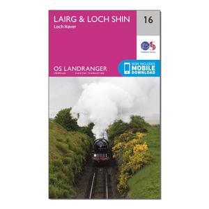 ORDNANCE SURVEY Landranger 16 Lairg & Loch Shin, Loch Naver Map With Digital Version