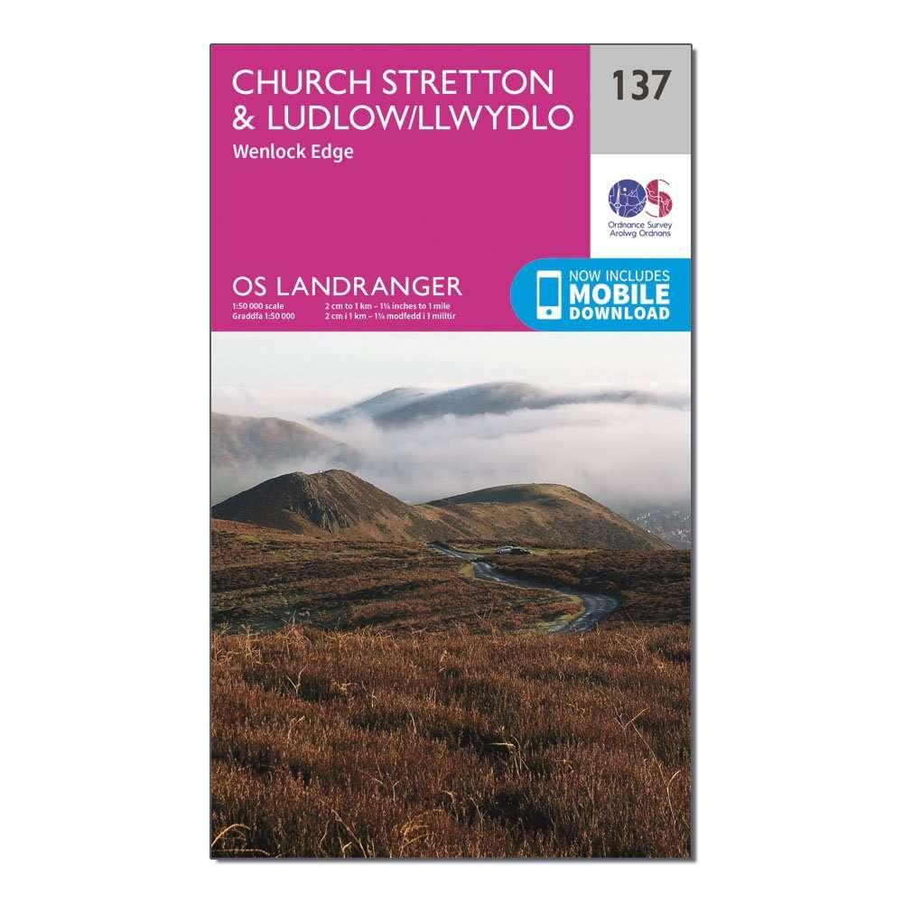 ORDNANCE SURVEY Landranger 137 Ludlow & Church Stretton, Wenlock Edge Map With Digital Version